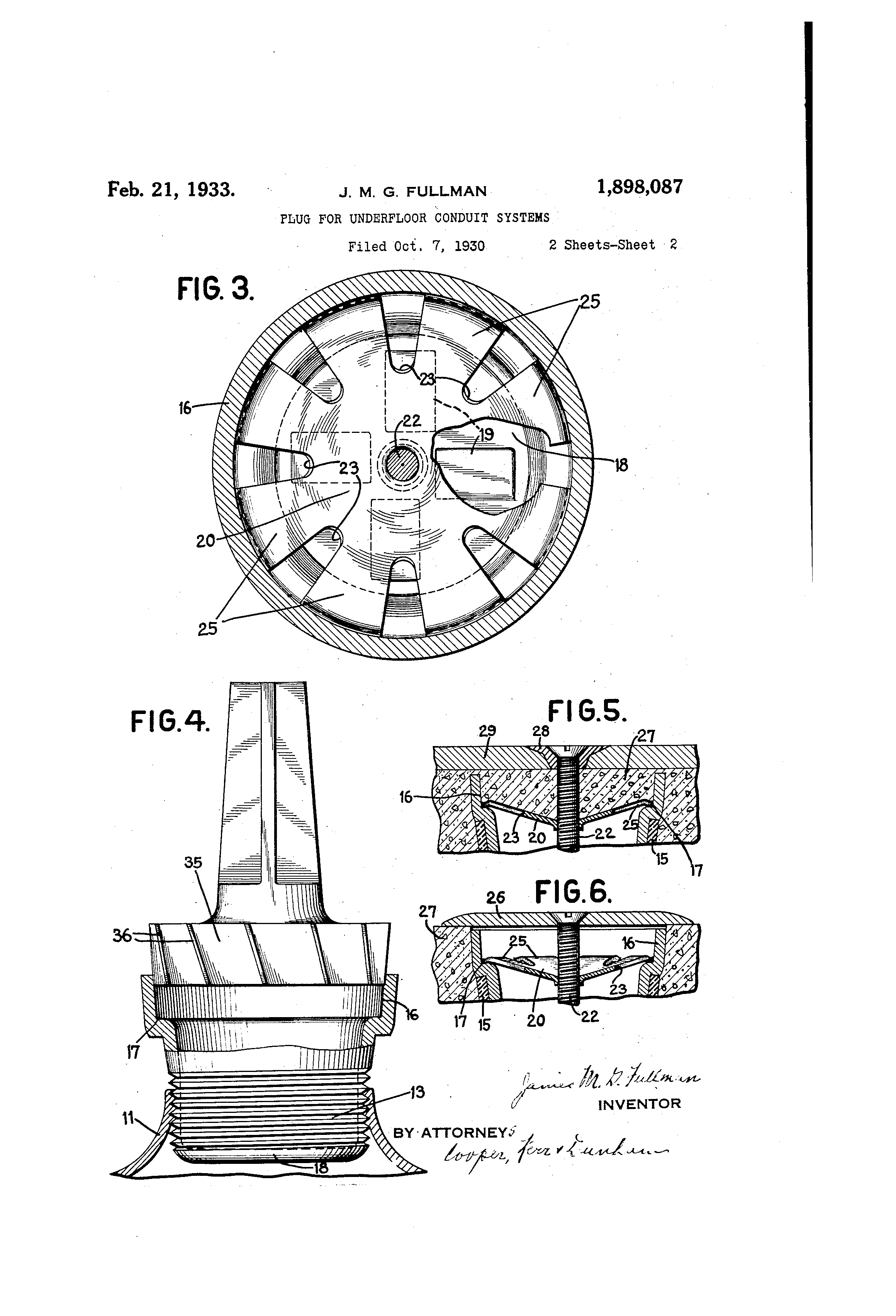 patent us1898087 plug for underfloor conduit systems google patents rh google co ck