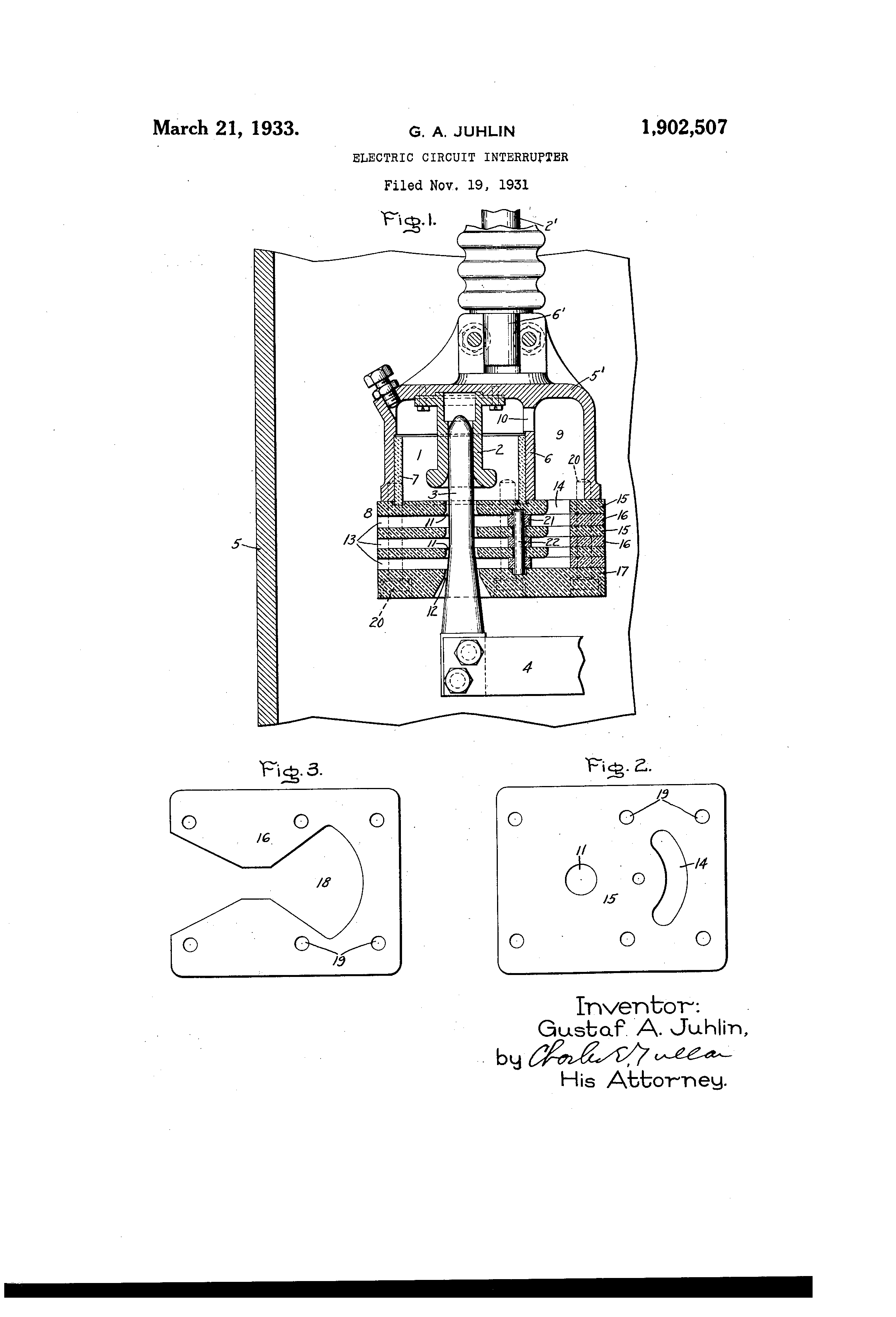 Patent Us1902507 Electric Circuit Interrupter Google Patents Photointerruptercircuitpng Drawing