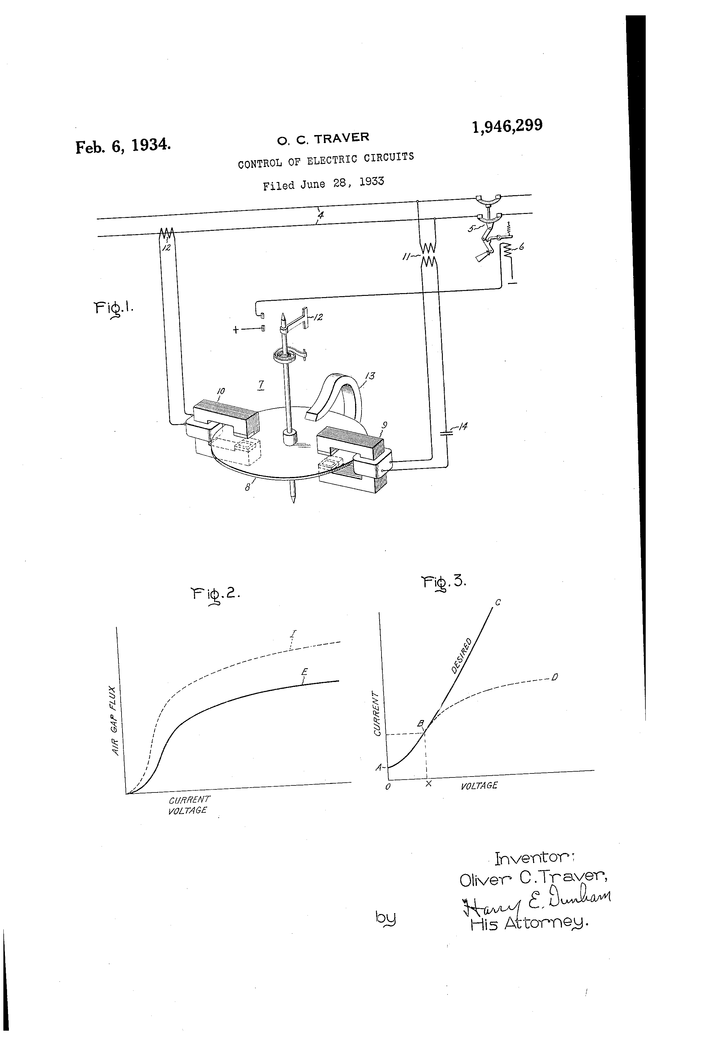 Patent US1946299 - Control of electric circuits - Google Patents