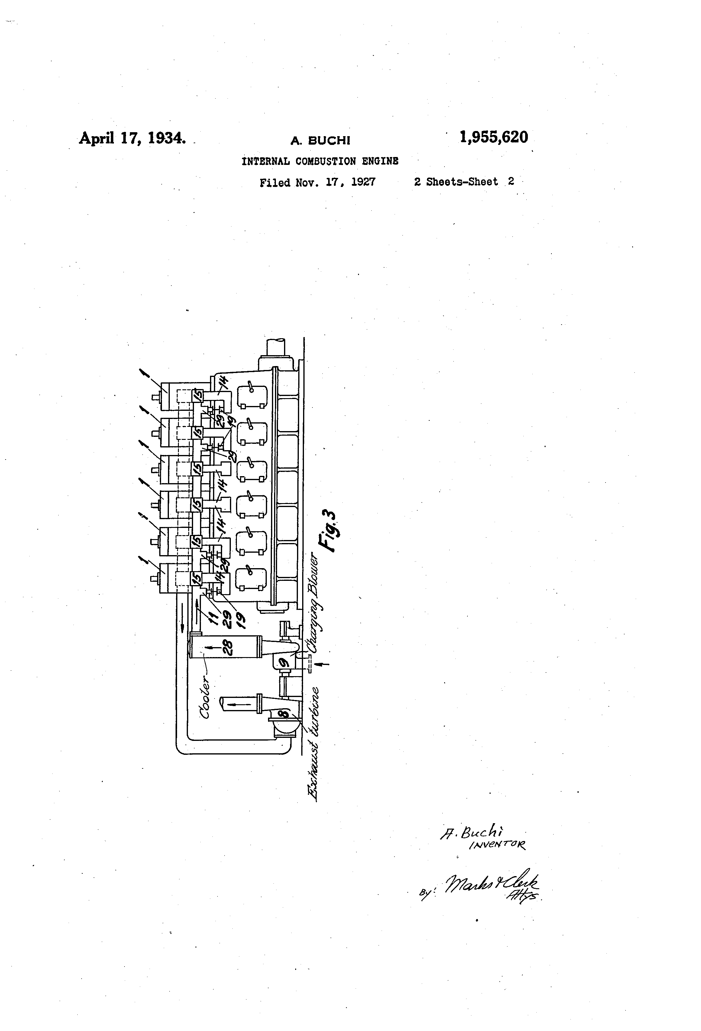 Patent Us1955620 Internal Combustion Engine Google Patents Old Nordyne Furnaces Wiring Diagram Image Drawing Previous Page