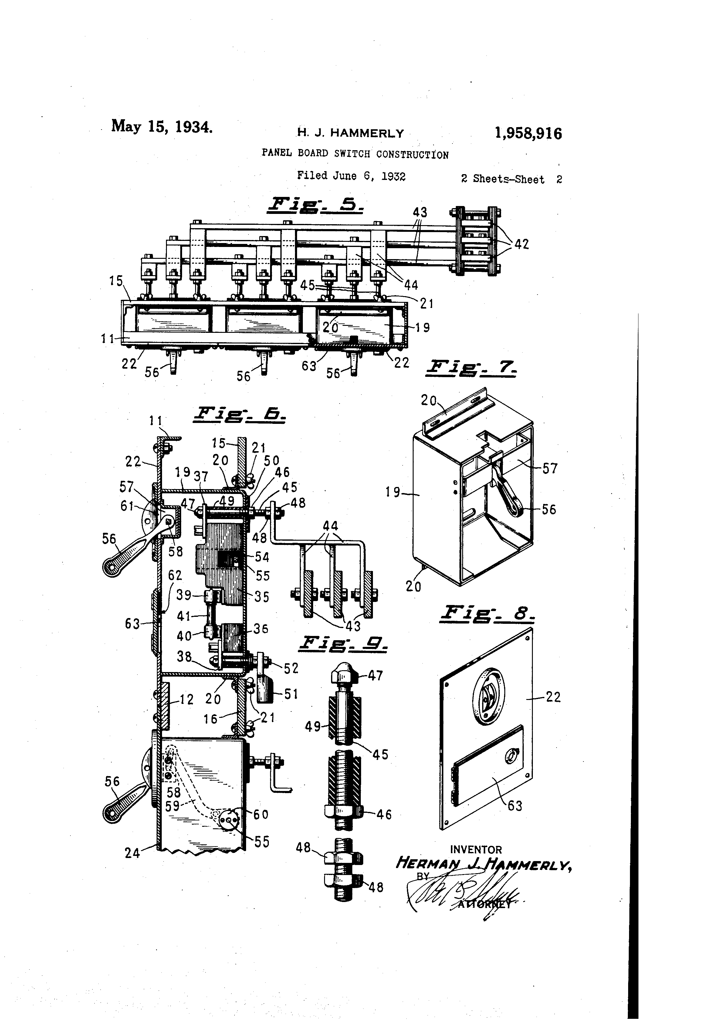 patent us1958916