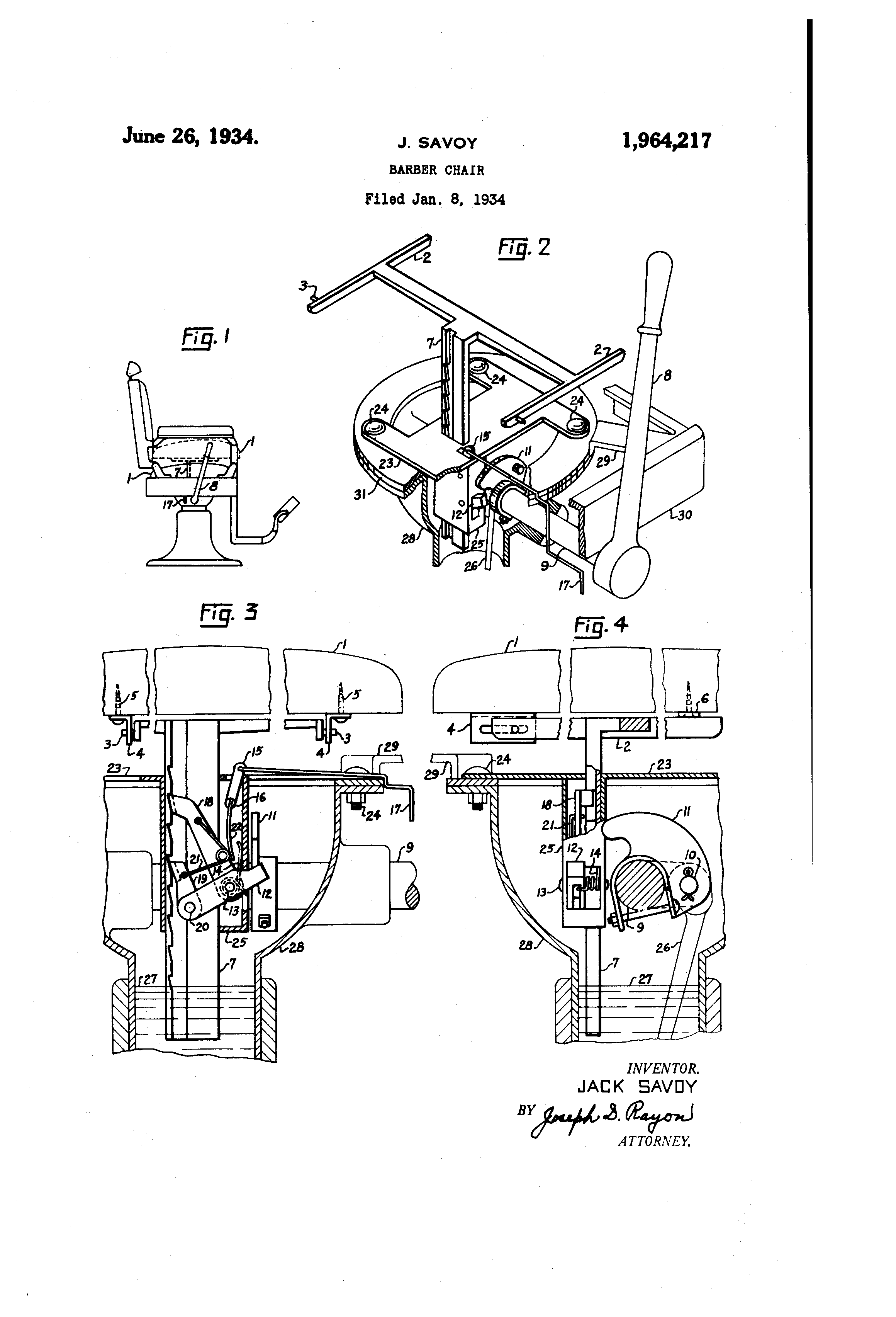 Patent us1964217 barber chair google patents