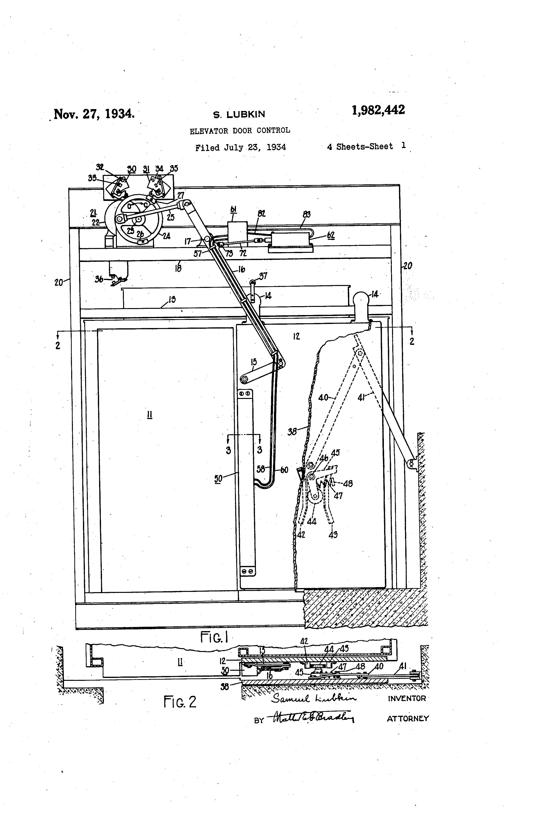 Patent Us1982442 Elevator Door Control Google Patents Relay Circuit Diagram Drawing