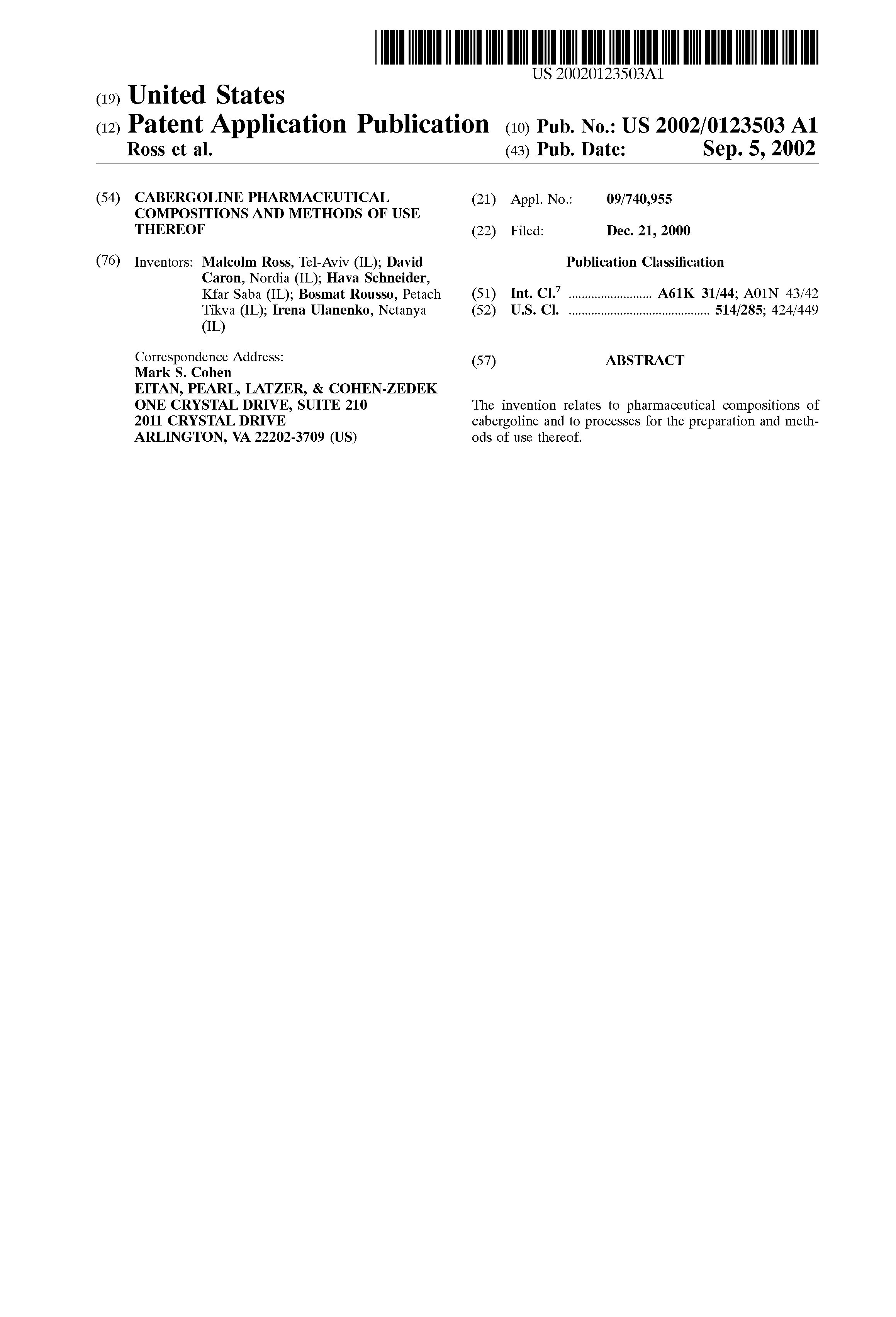 Dostinex 0 5mg tablets.doc - Patent Drawing