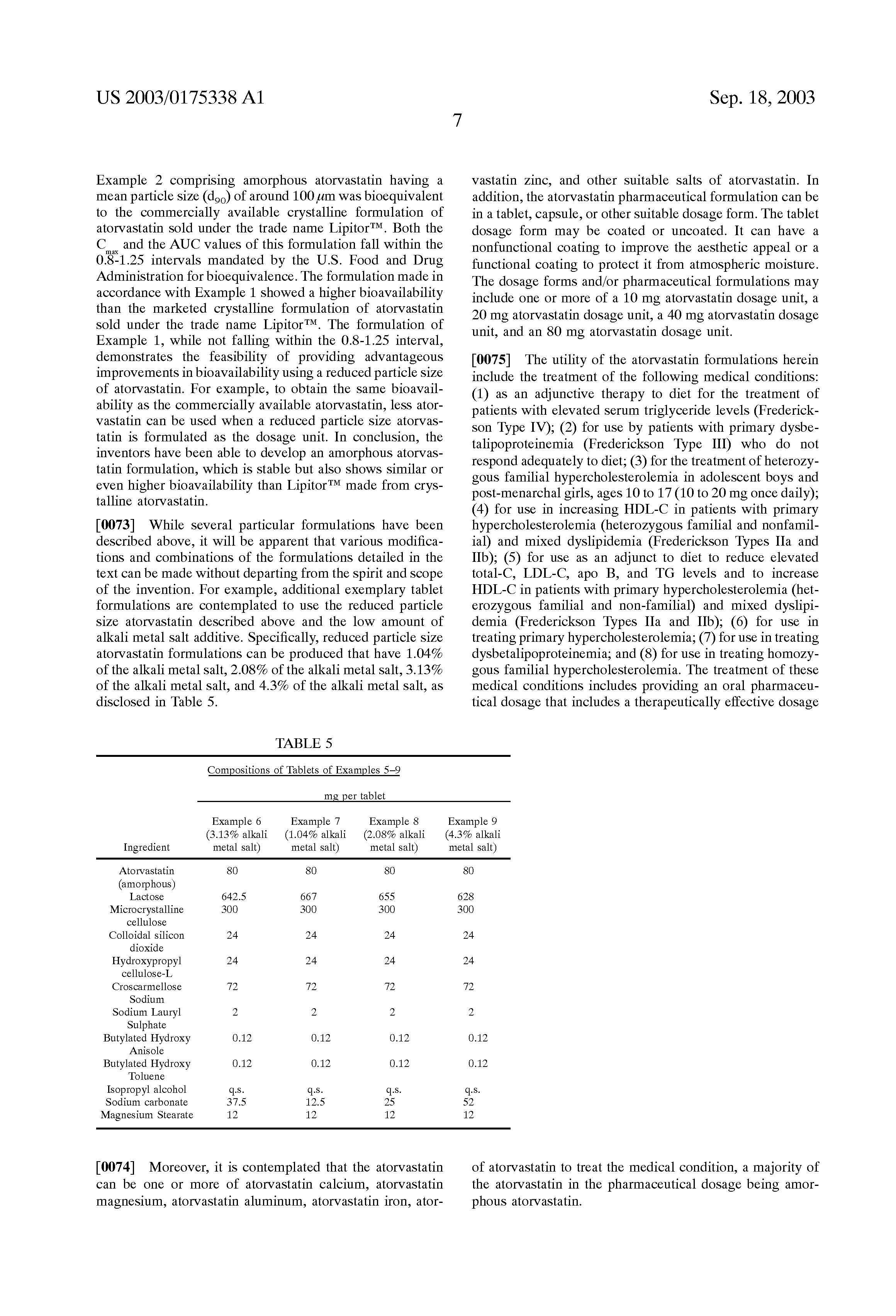 Atorvastatin 10 mg tabletten.doc - Patent Drawing