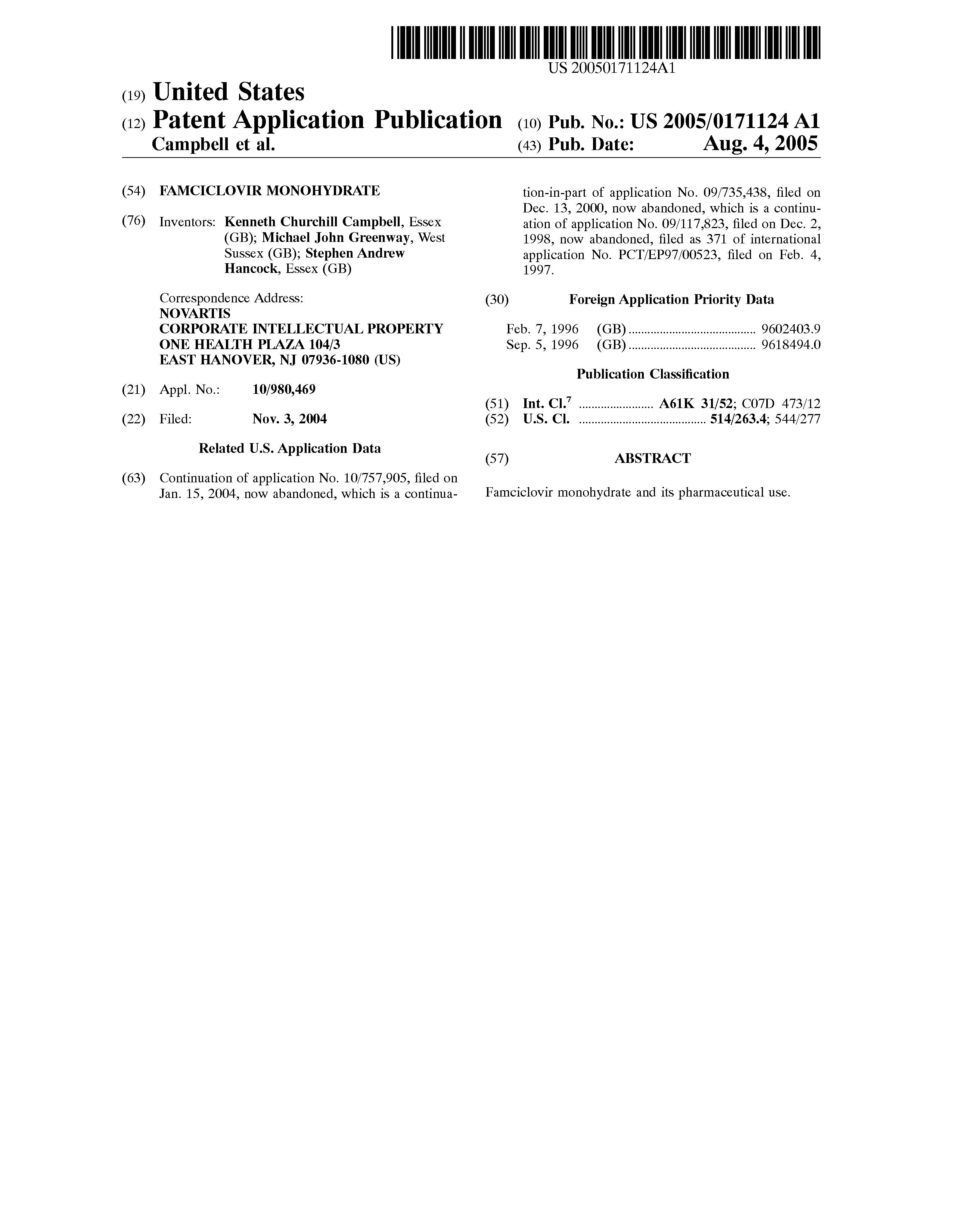 Famciclovir 125 mg.doc - Patent Drawing