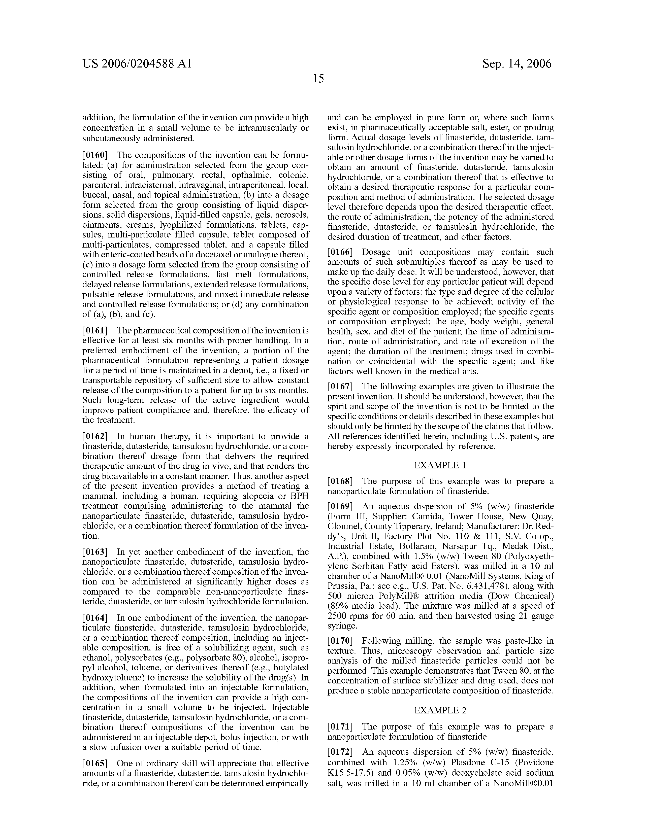 Propecia patent