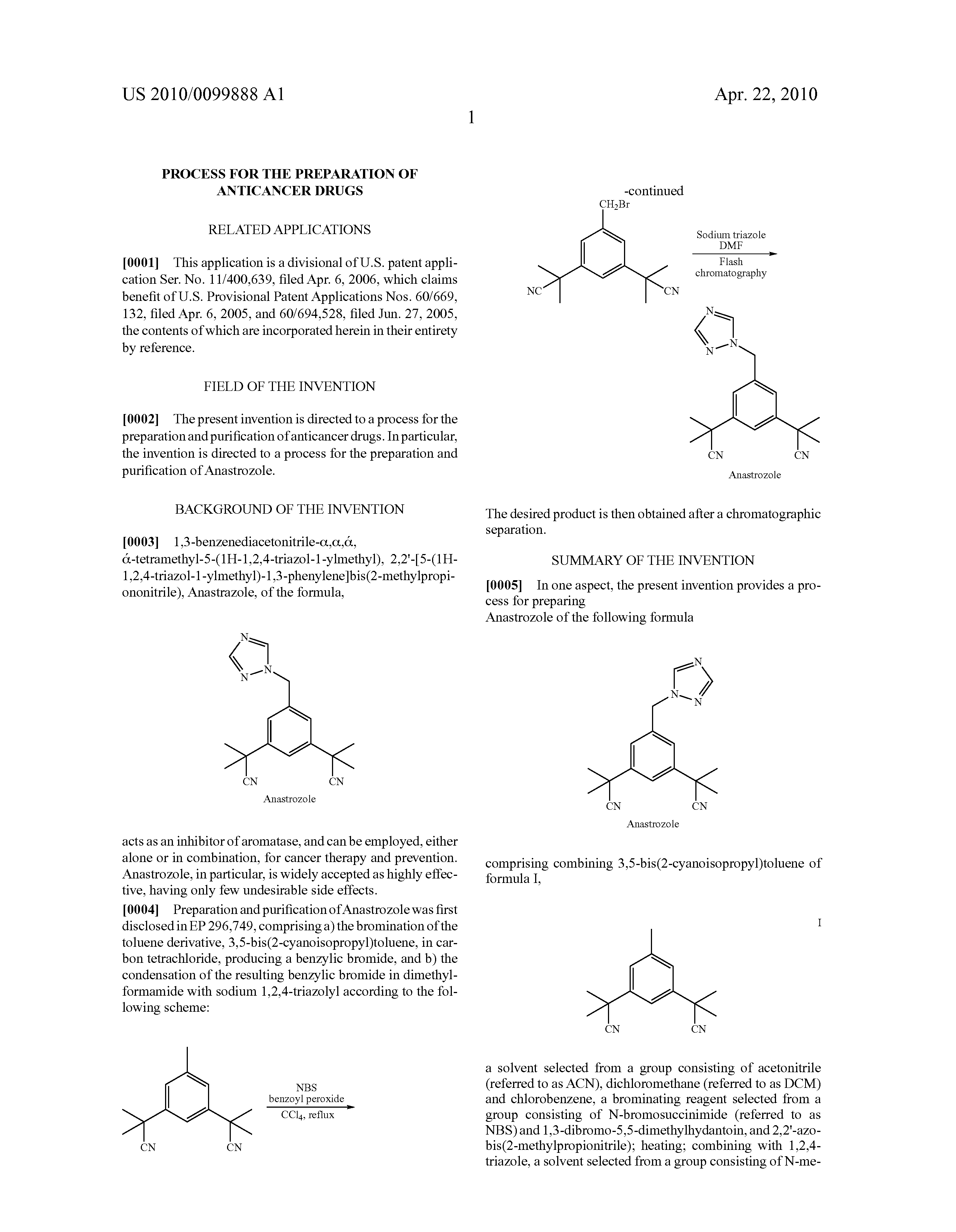 Order anastrozole.doc - Patent Drawing