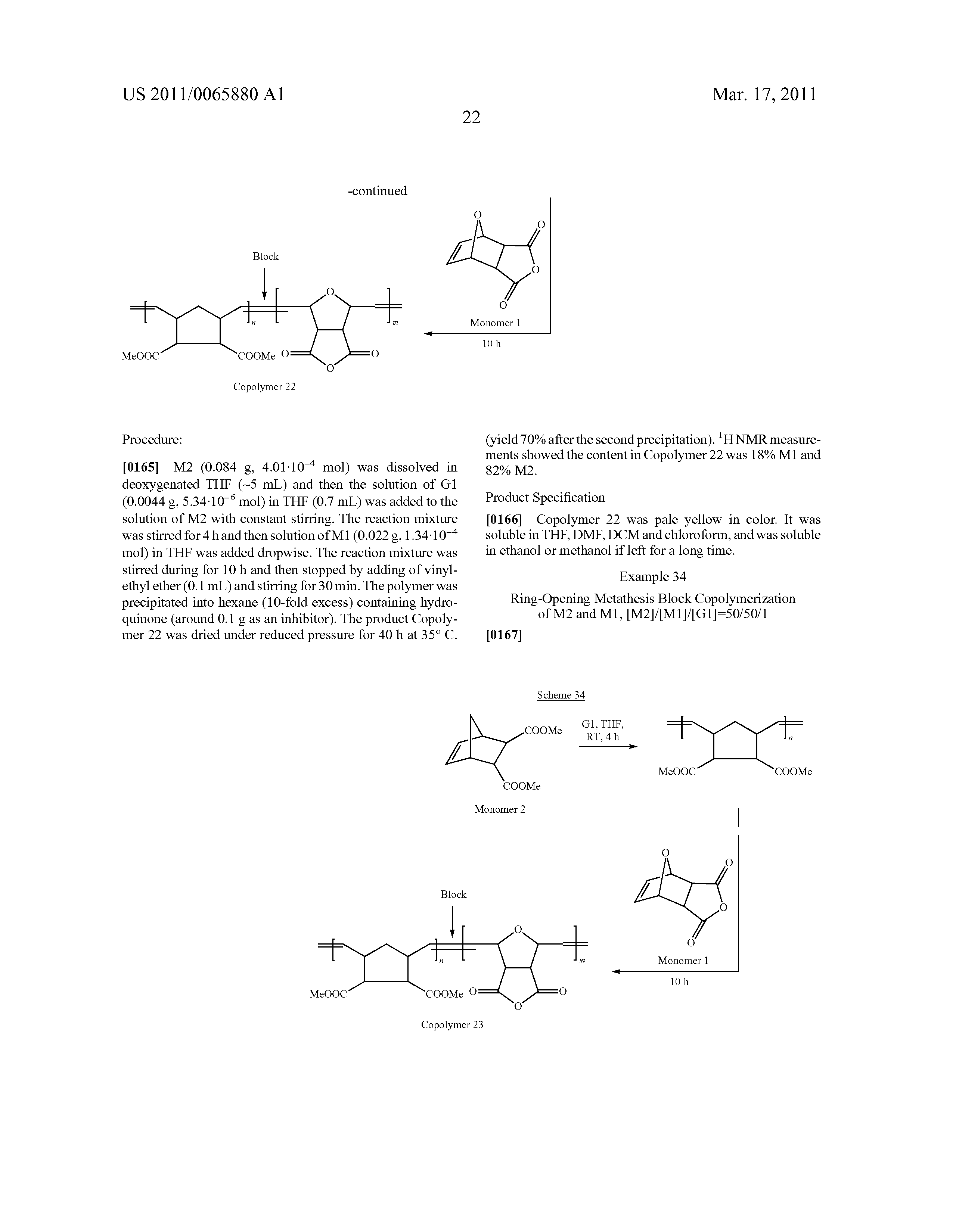 Ring opening metathesis polymerization norbornene