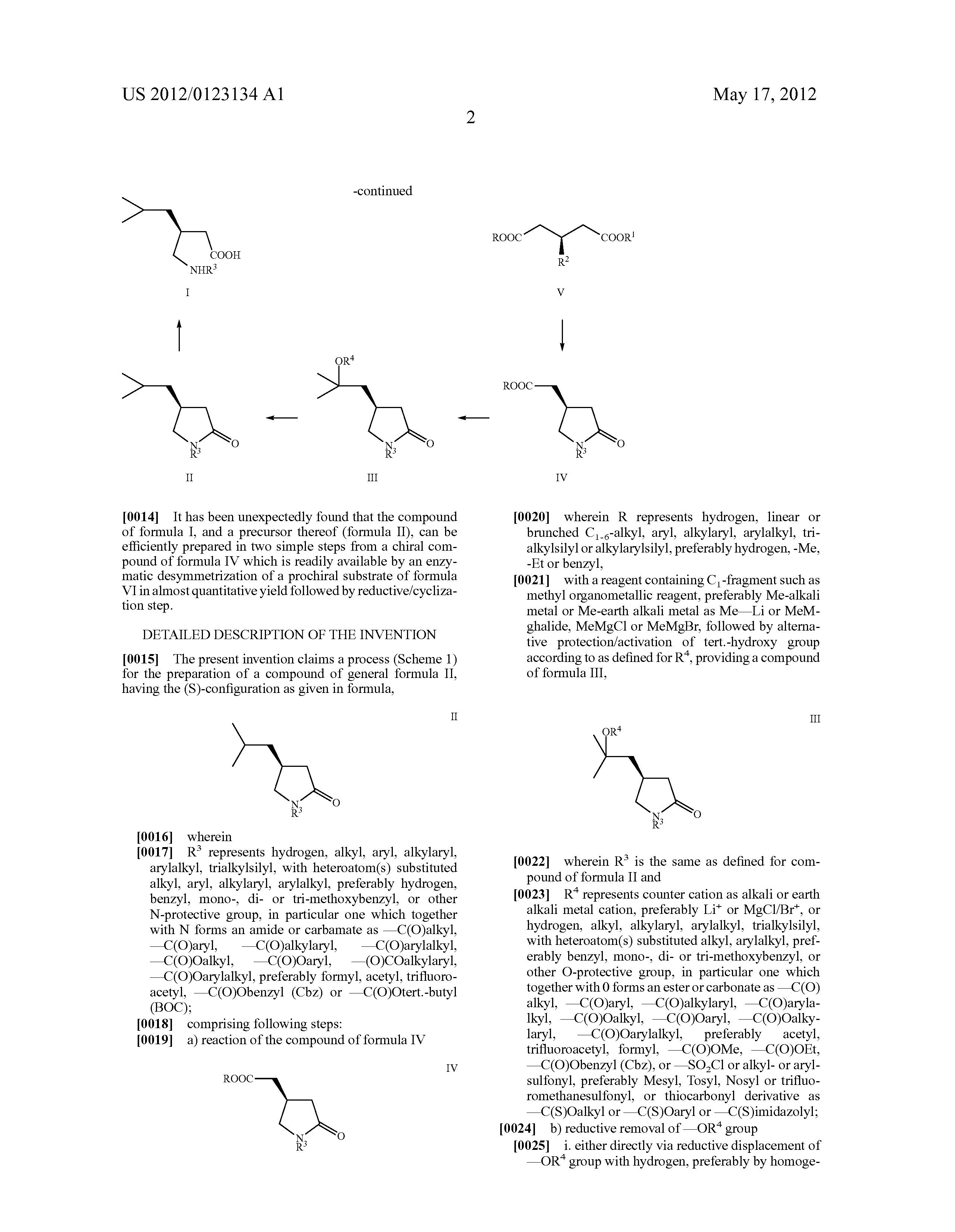 pregabalin s-enantiomer vs r-enantiomer