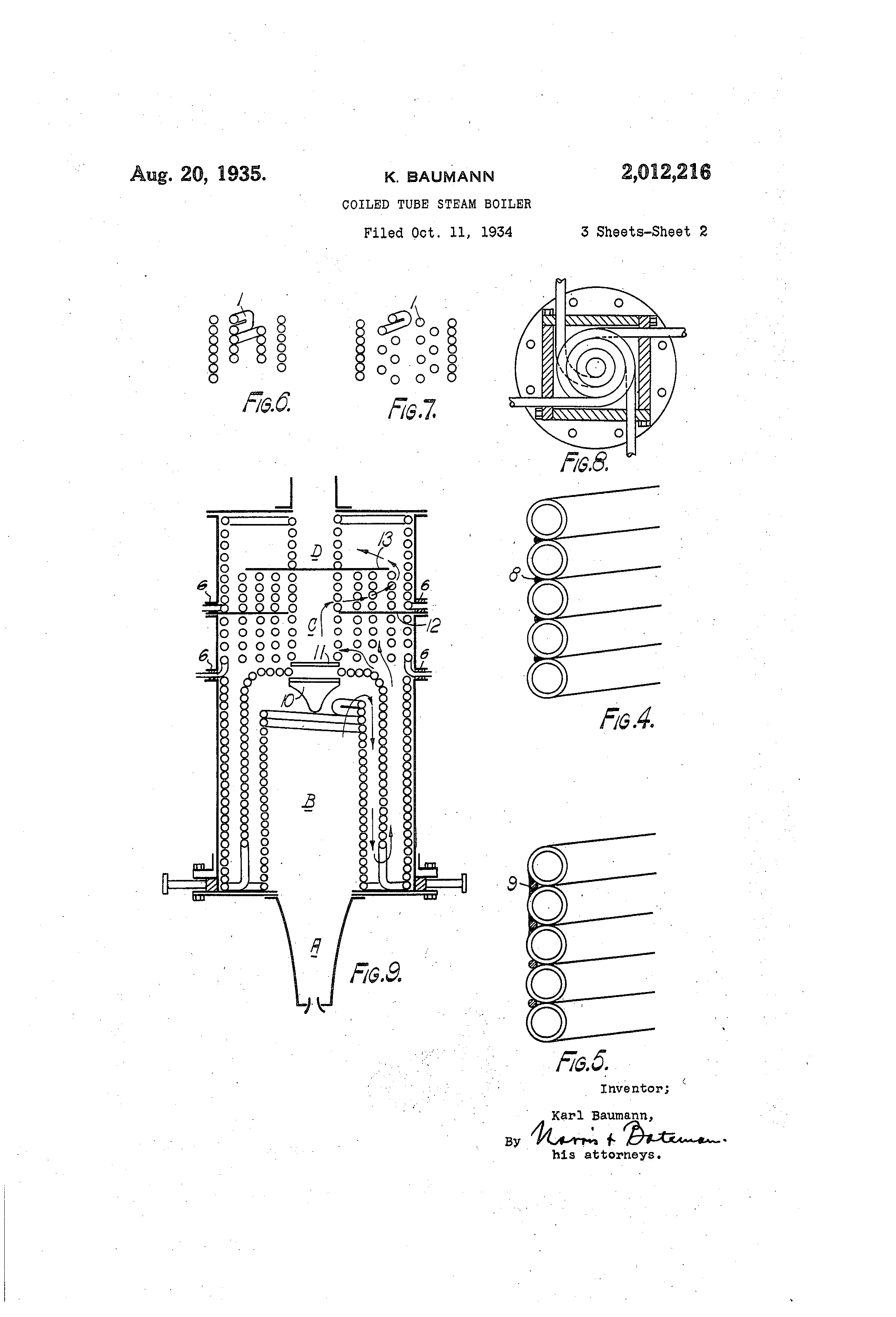 Patent US Coiled tube steam boiler Google Patents