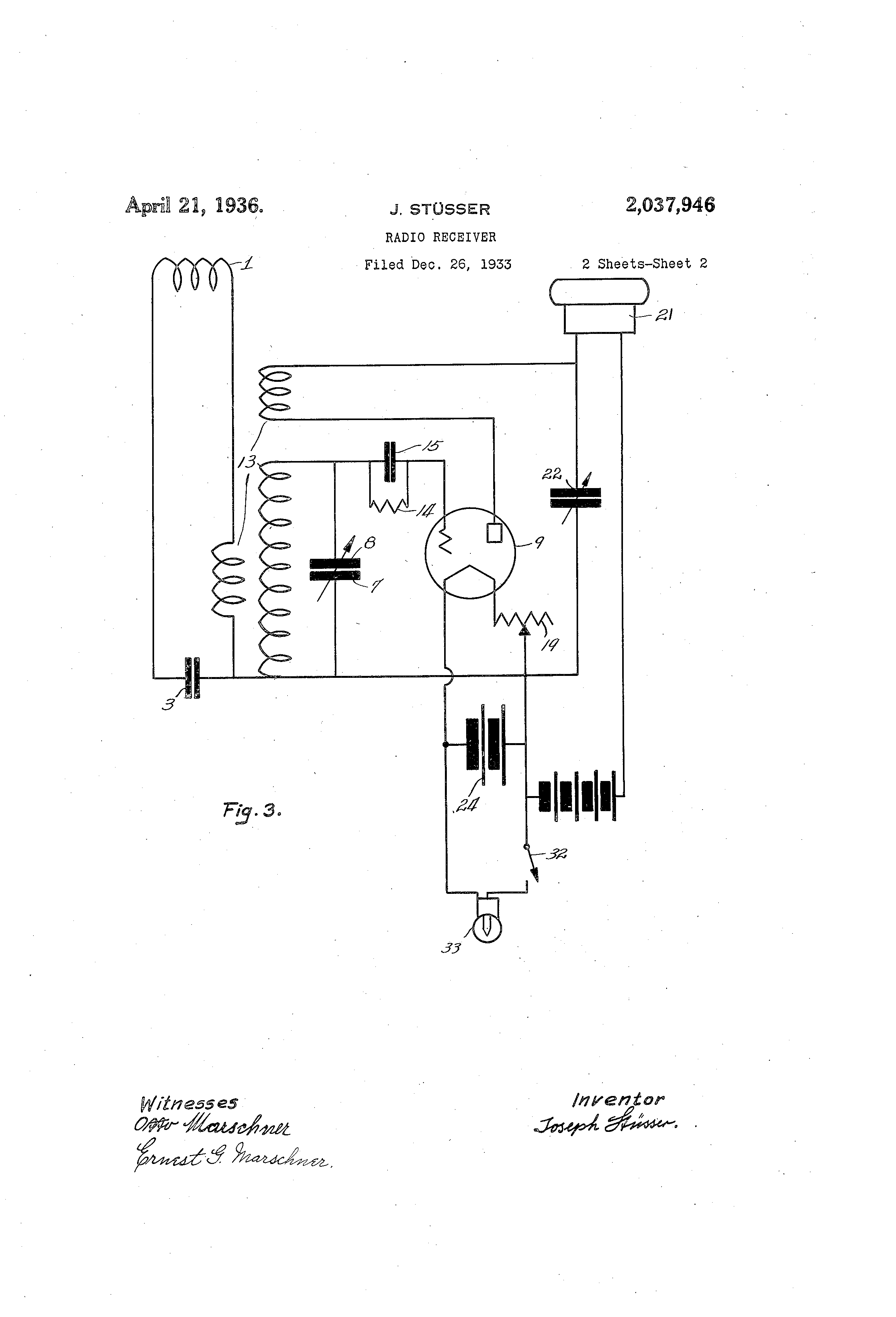 Patent Us2037946 Radio Receiver Google Patents Variableresistorcontrolled Regenerative Circuit Diagram Drawing