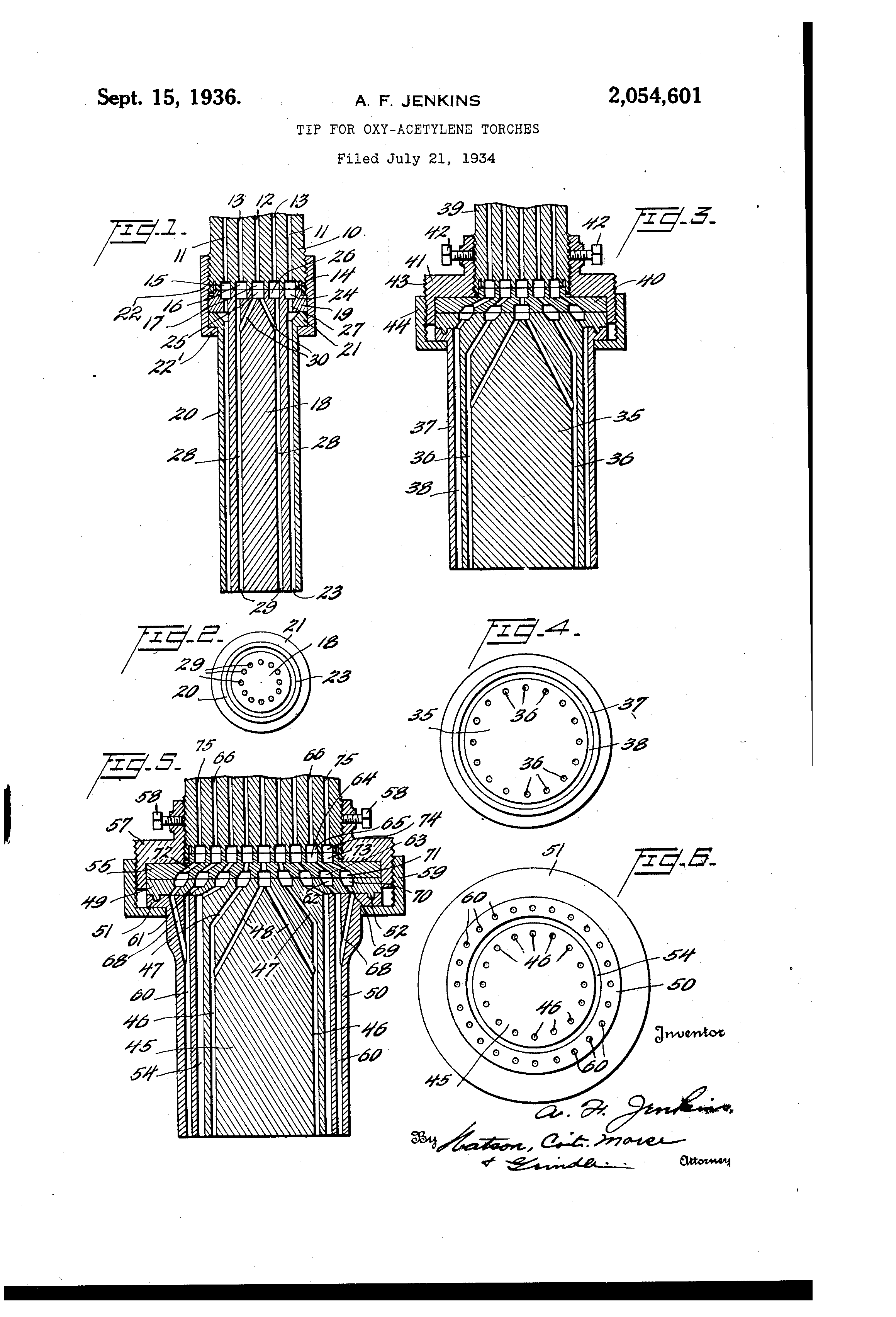 Patent Us2054601 Tip For Oxy Acetylene Torches Google Patents Welding Equipment Diagram Drawing