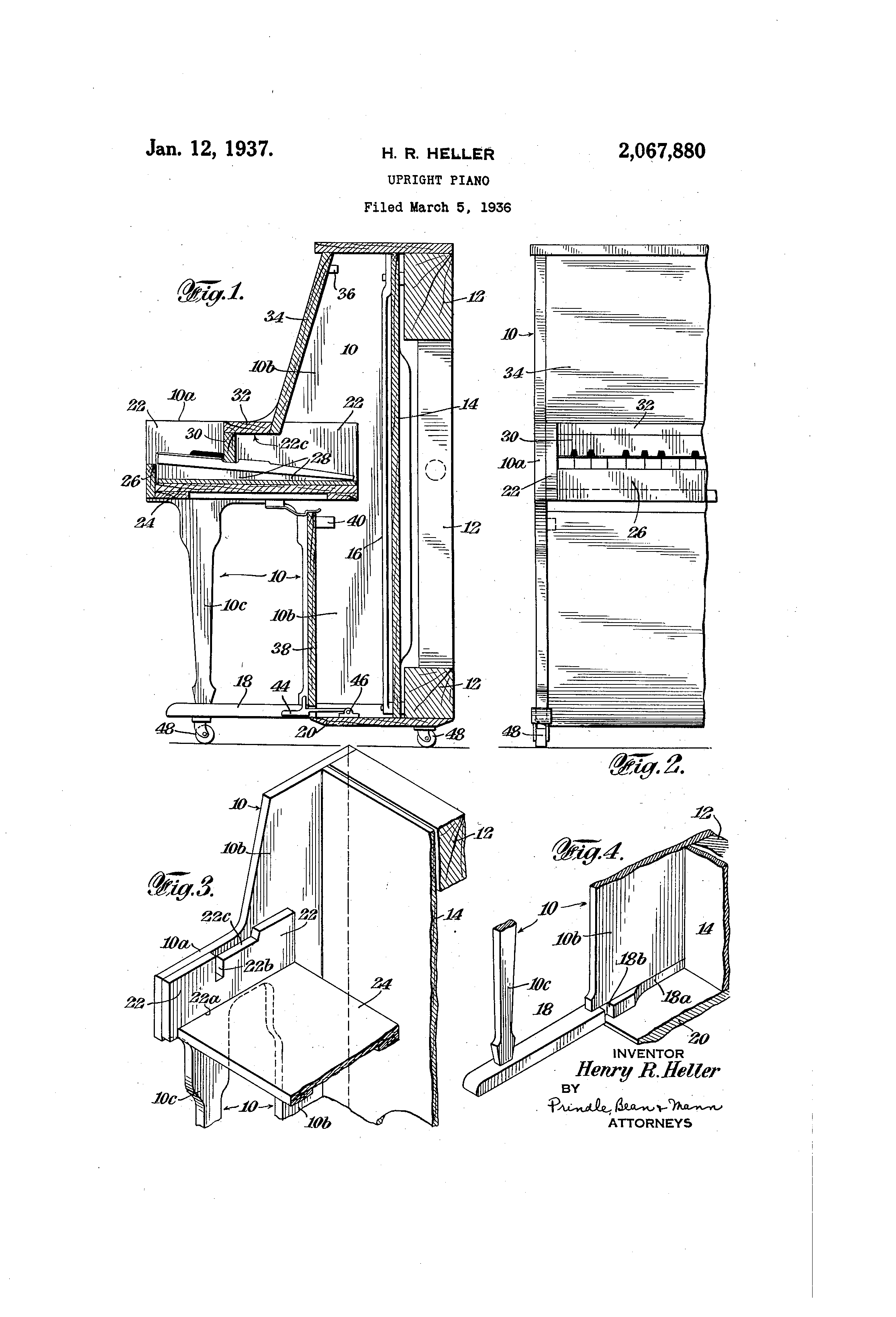 Patent us2067880 upright piano google patents for What are the dimensions of an upright piano