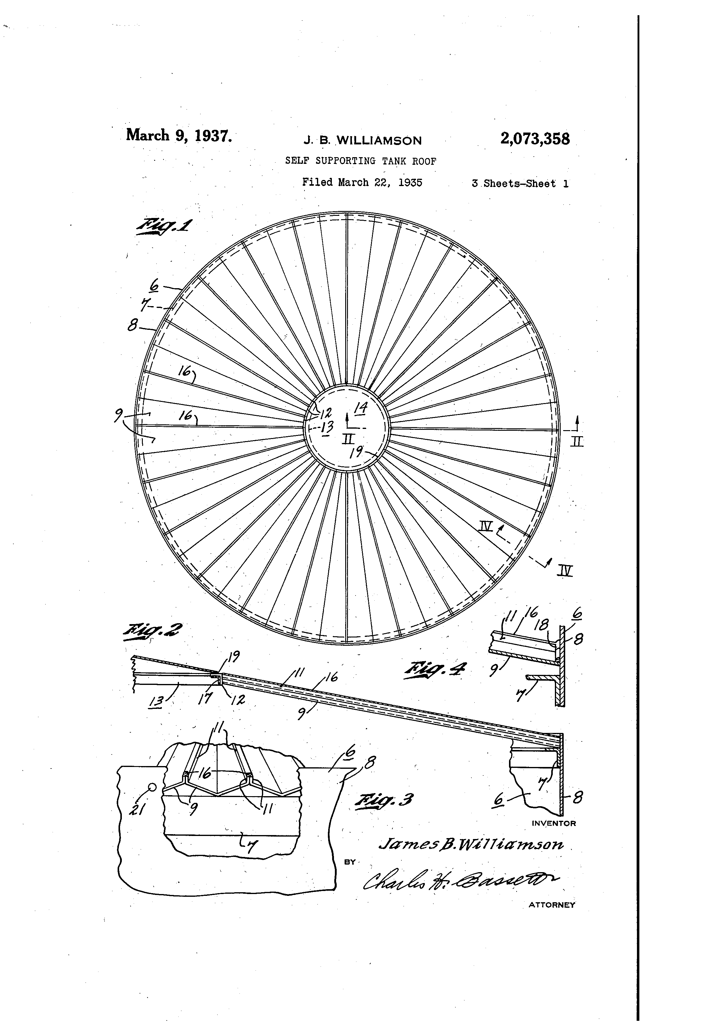 patent us2073358 - self-supporting tank roof