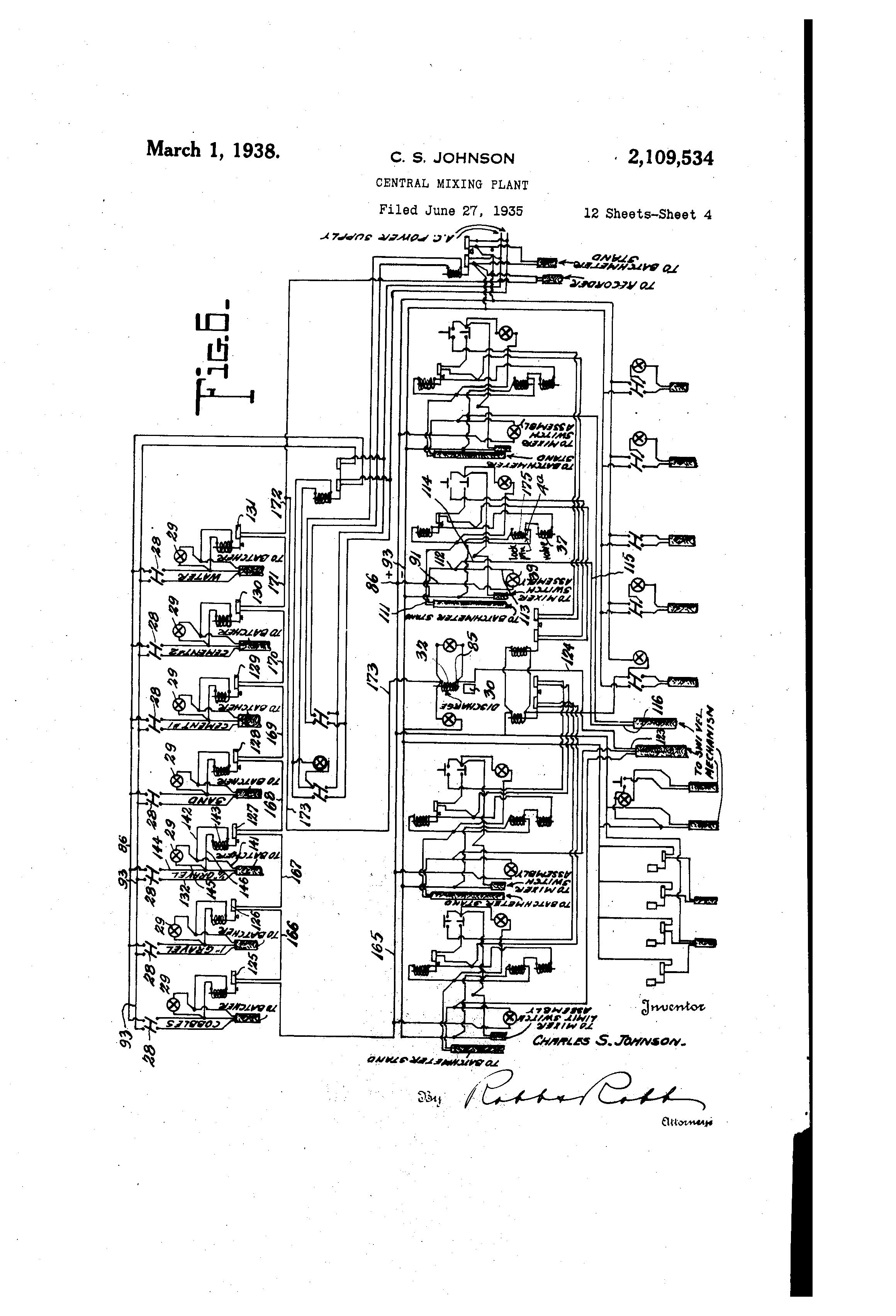 Patent Us2109534 - Central Mixing Plant