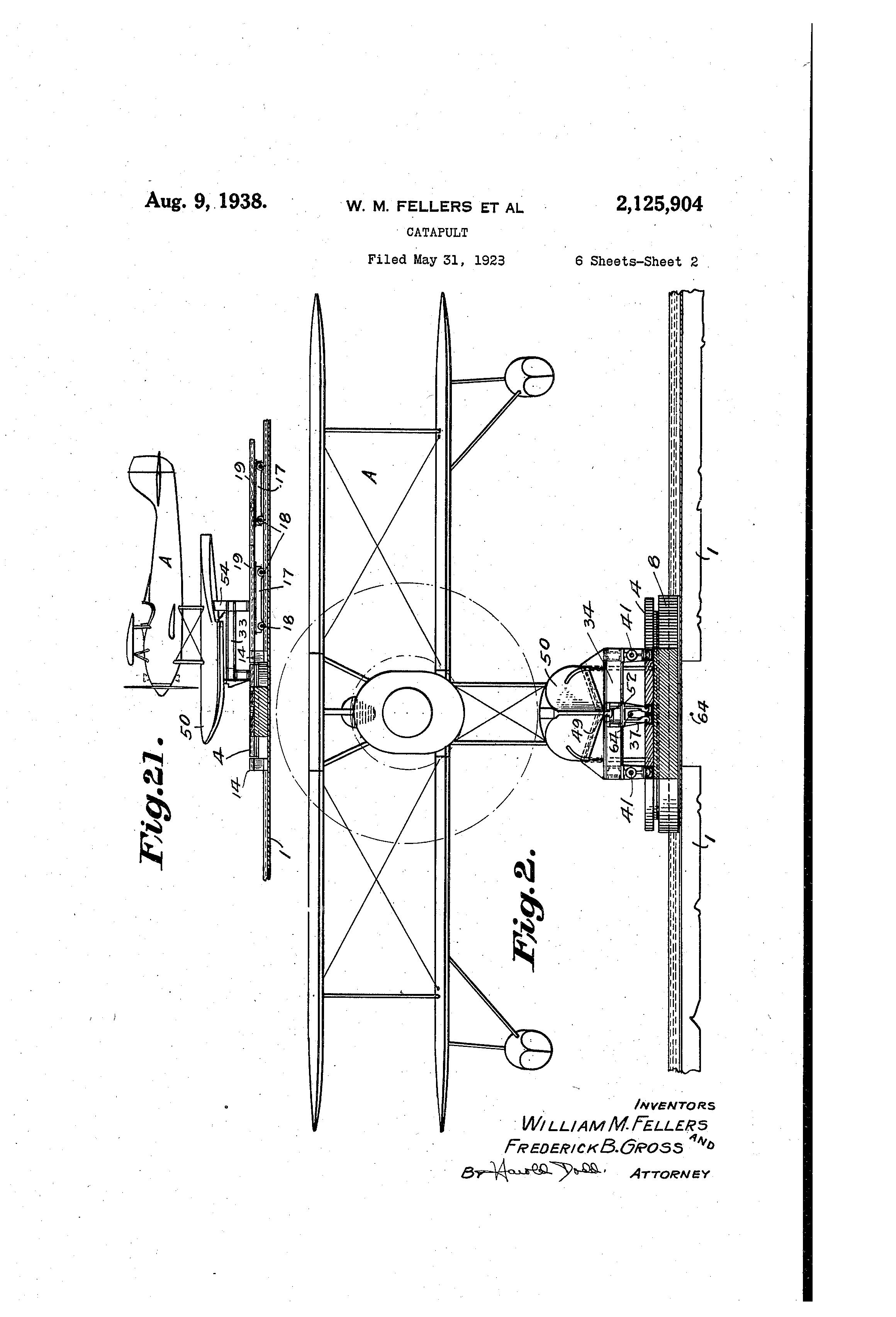 Brevet Us2125904 Catapult Google Brevets Diagram Of A Patent Drawing
