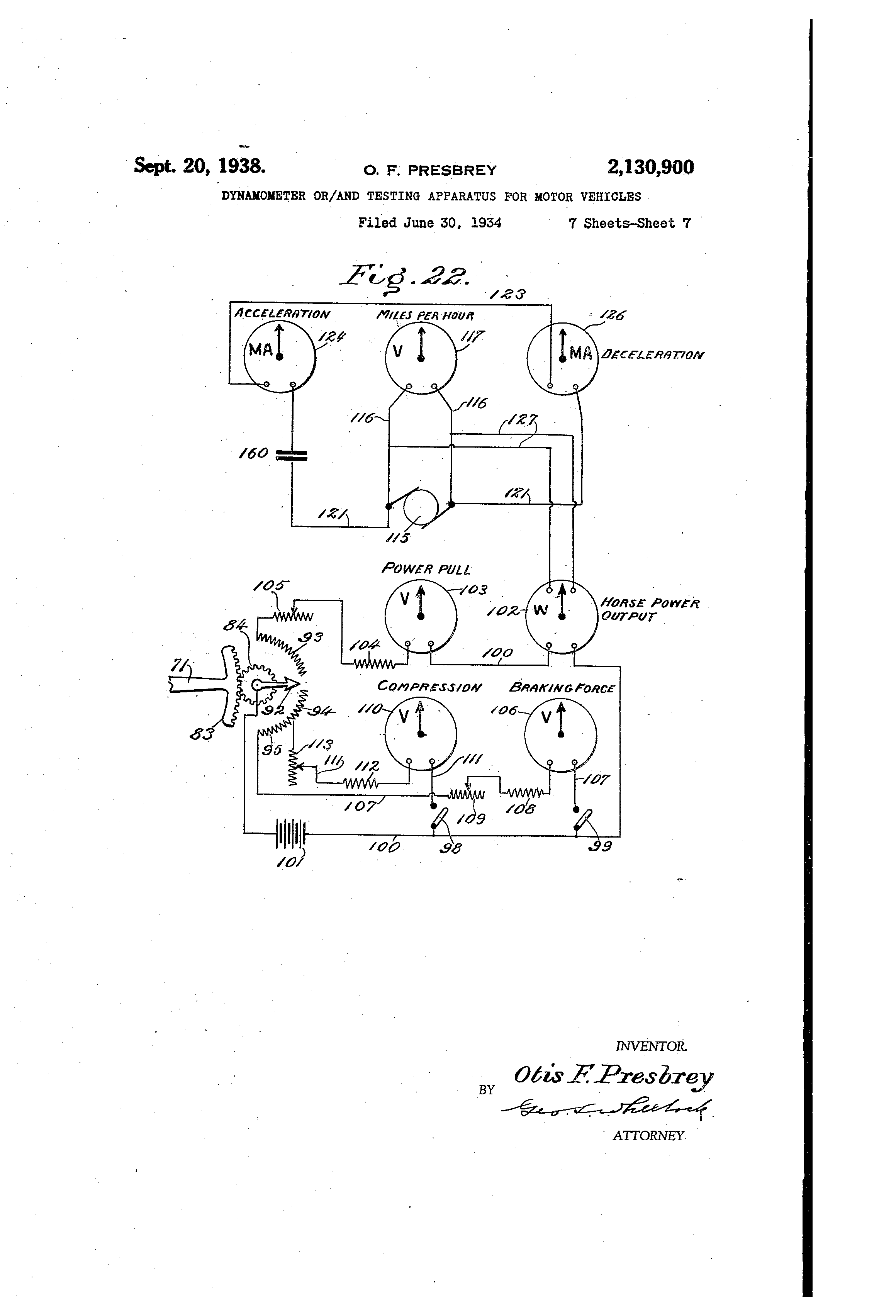 Patent Us2130900 Dynamometer Or And Testing Apparatus For Motor Current In A Series Circuit The Ammeter Reads 01a When Switch Is Drawing