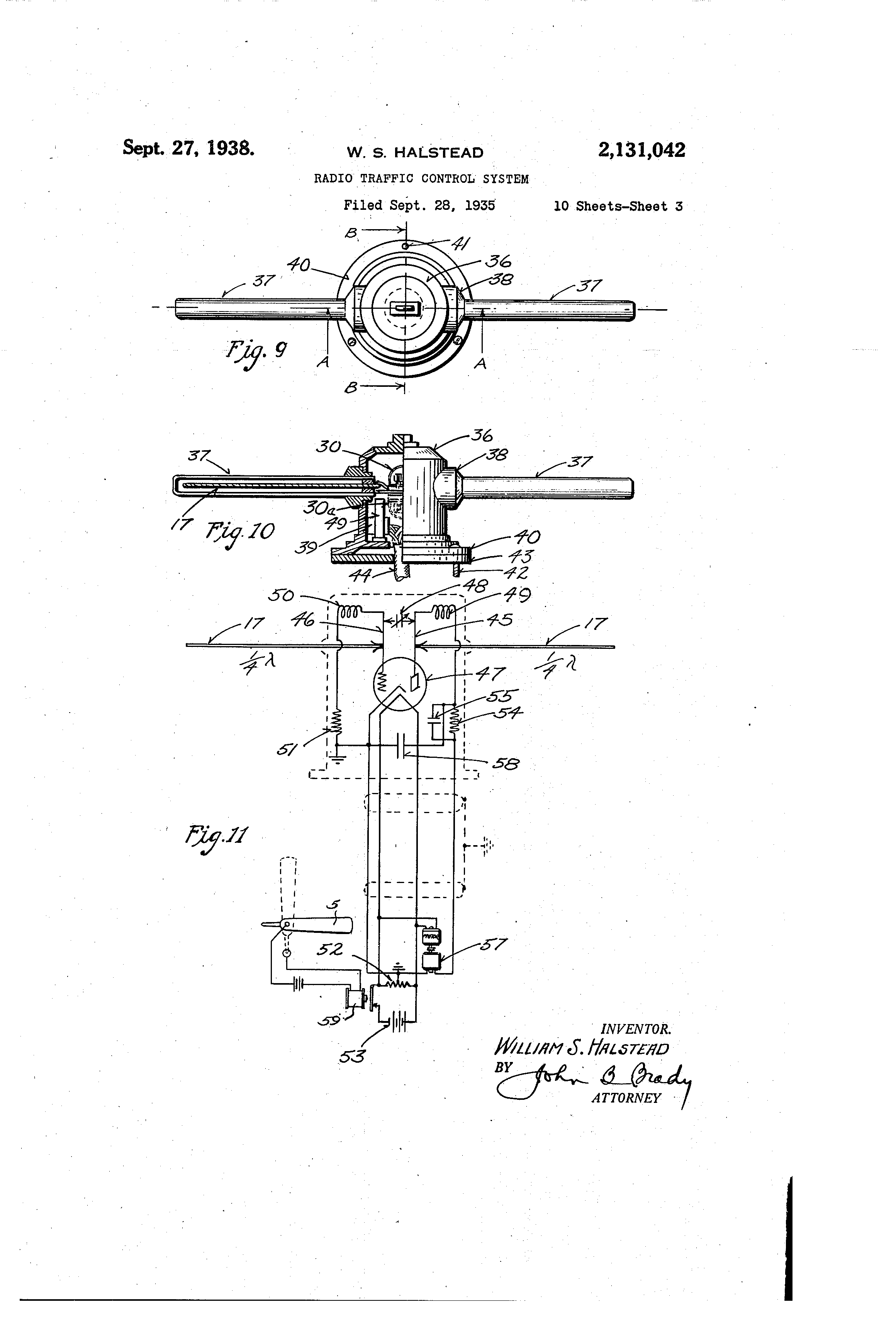Patent Us2131042 Radio Traffic Control System Google Patents Onetube Transmitter Schematic Diagrams And Circuit Descriptions Drawing