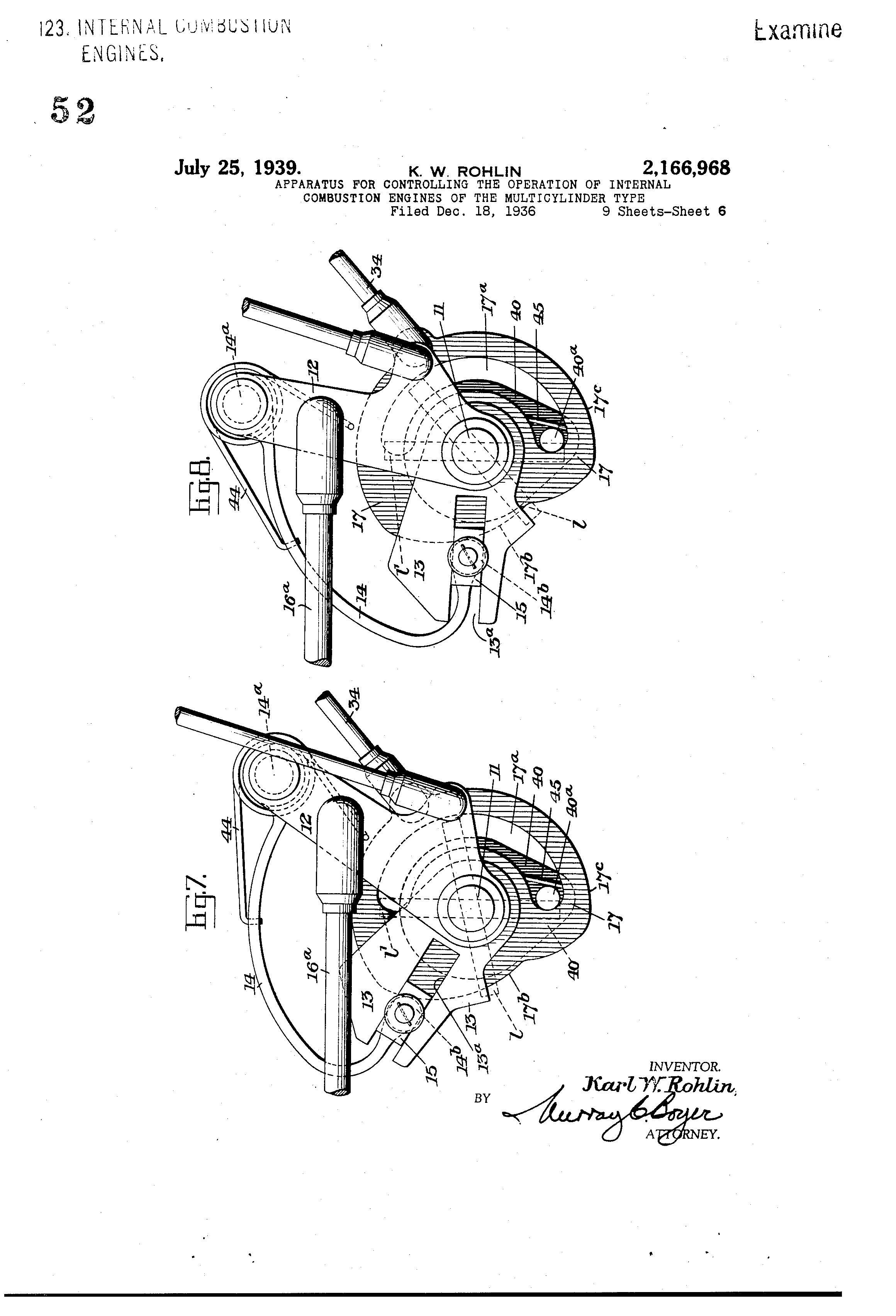 patent us2166968 apparatus for controlling the operation of Ford Headlight Switch Diagram patent drawing
