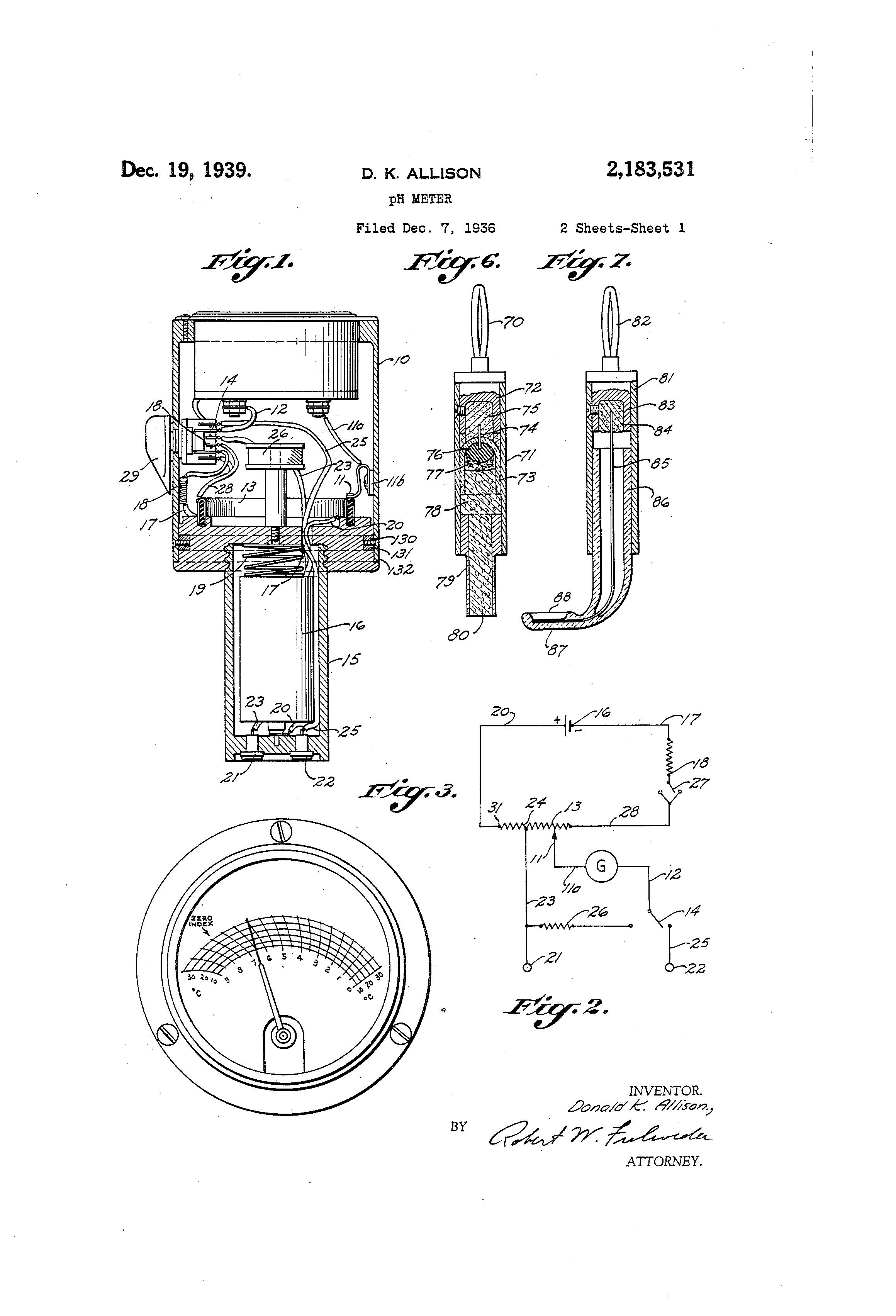 patent us2183531 - ph meter
