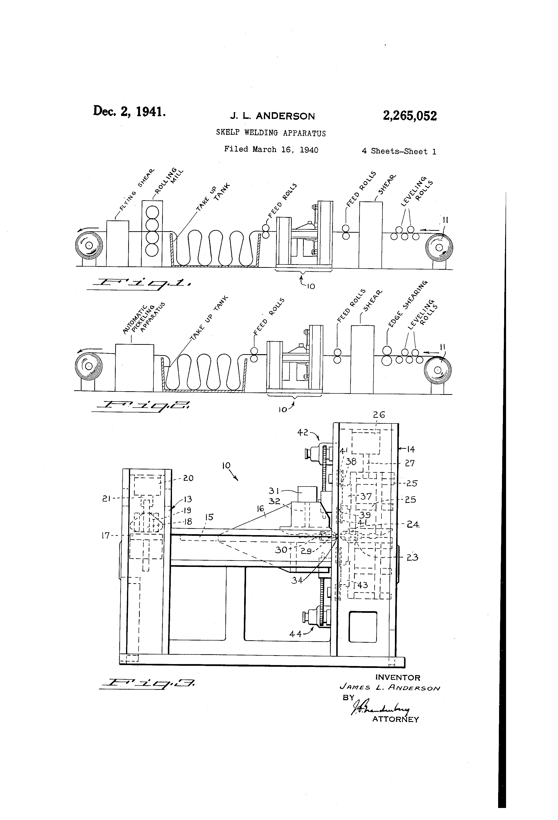 Patent Us2265052 Skelp Welding Apparatus Google Patents Oxy Acetylene Equipment Diagram Drawing