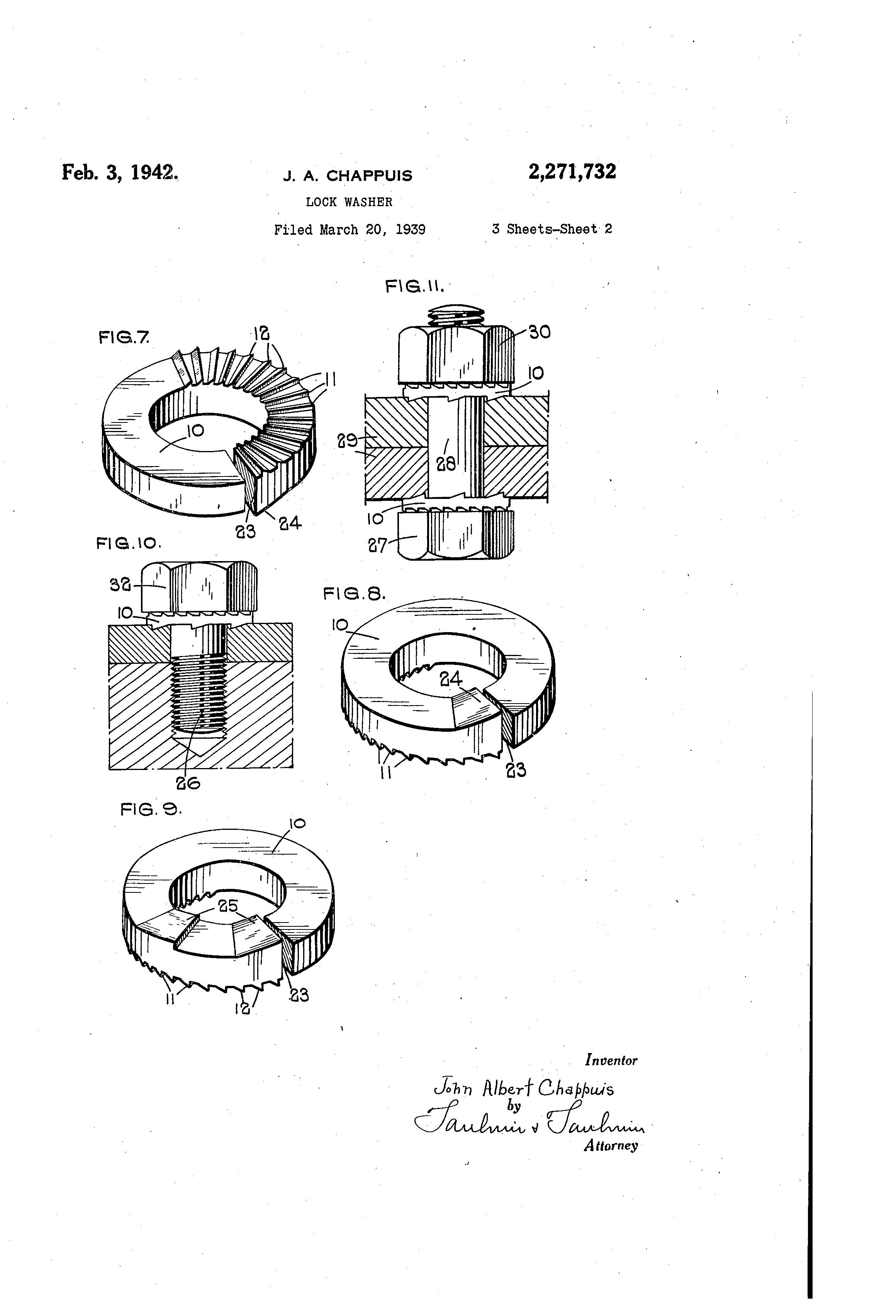 Patent Us2271732 Lock Washer Google Patents