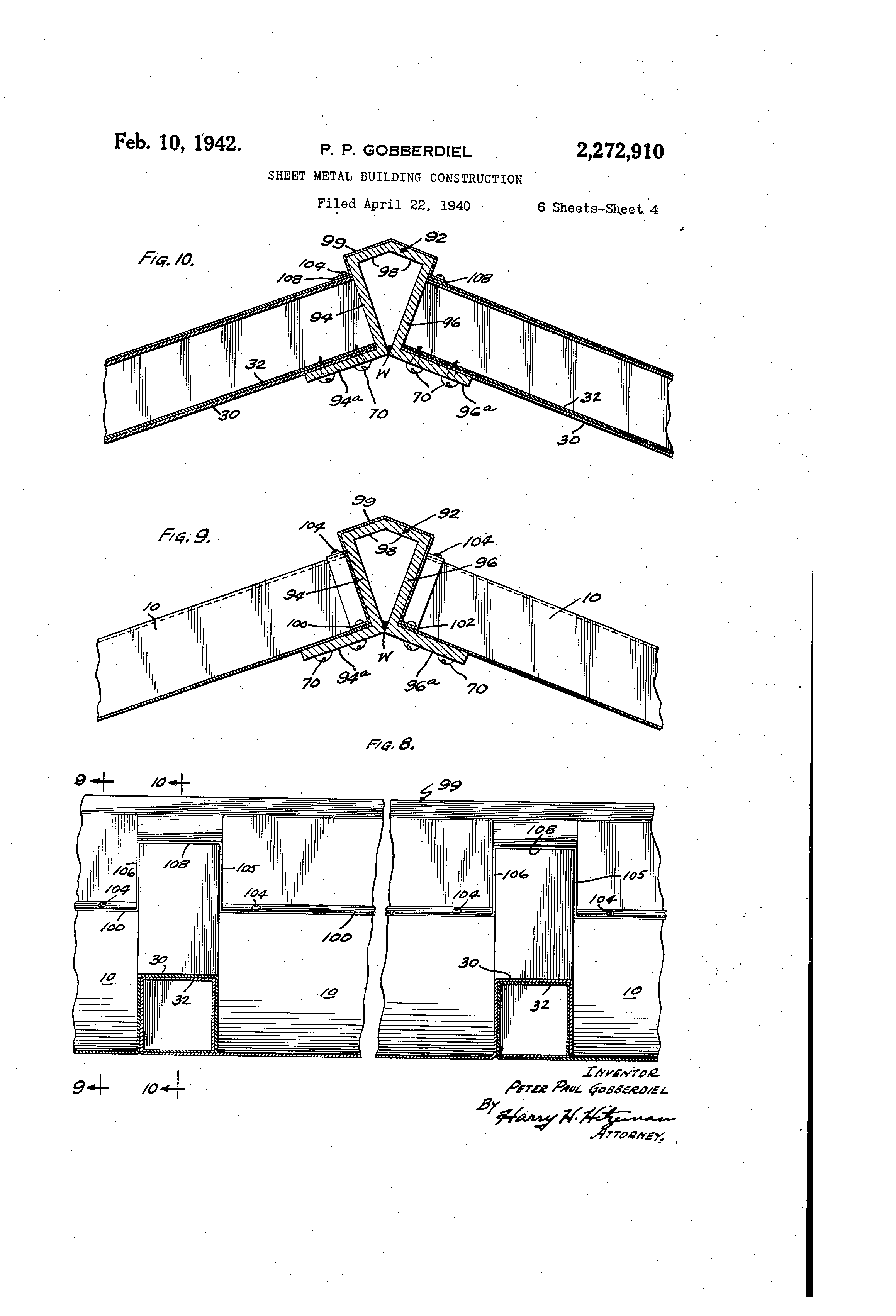 Construction Sheet Metal : Patent us sheet metal building construction
