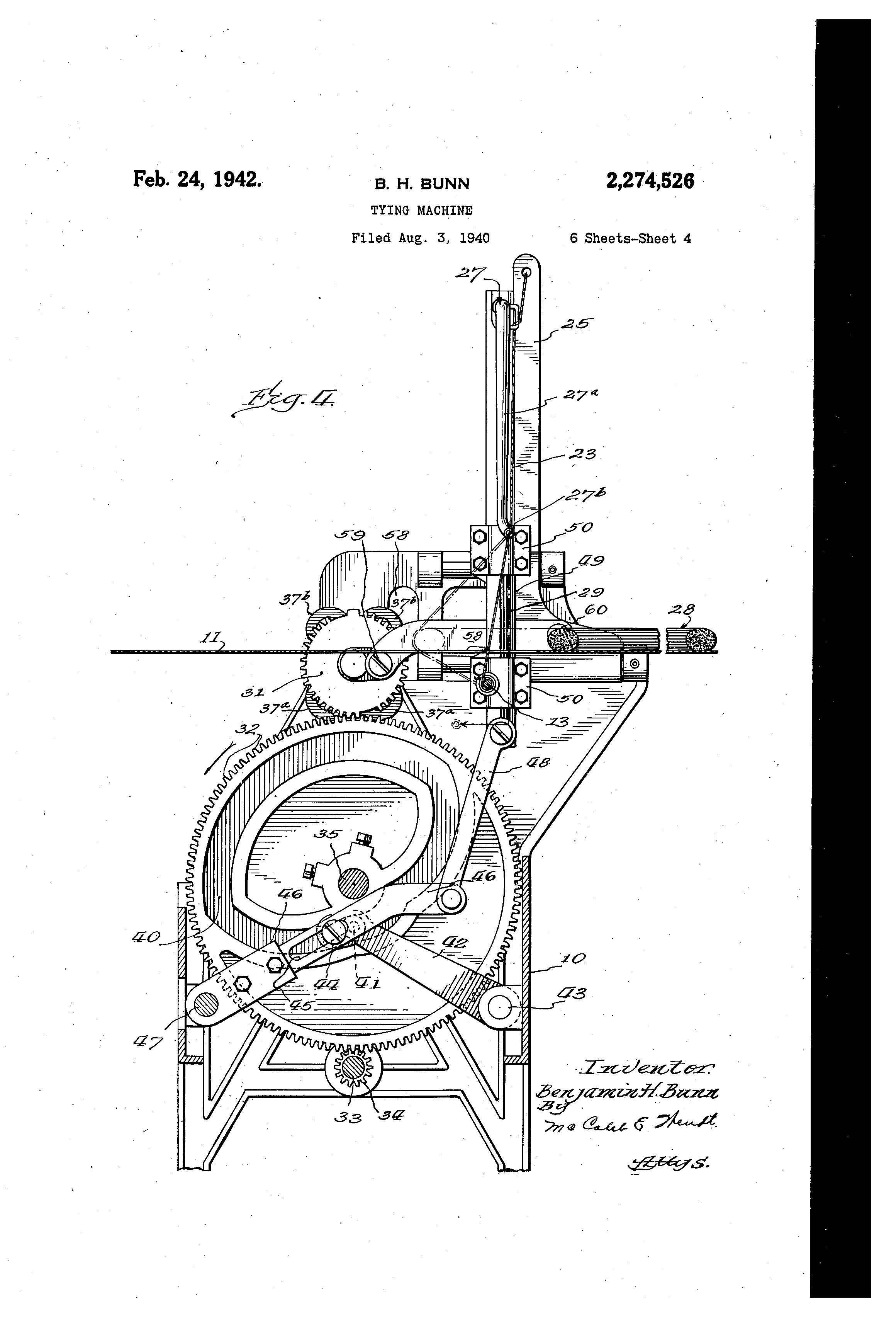 Patent Us2274526 Tying Machine Google Patents Bunn Single Wiring Diagram Drawing