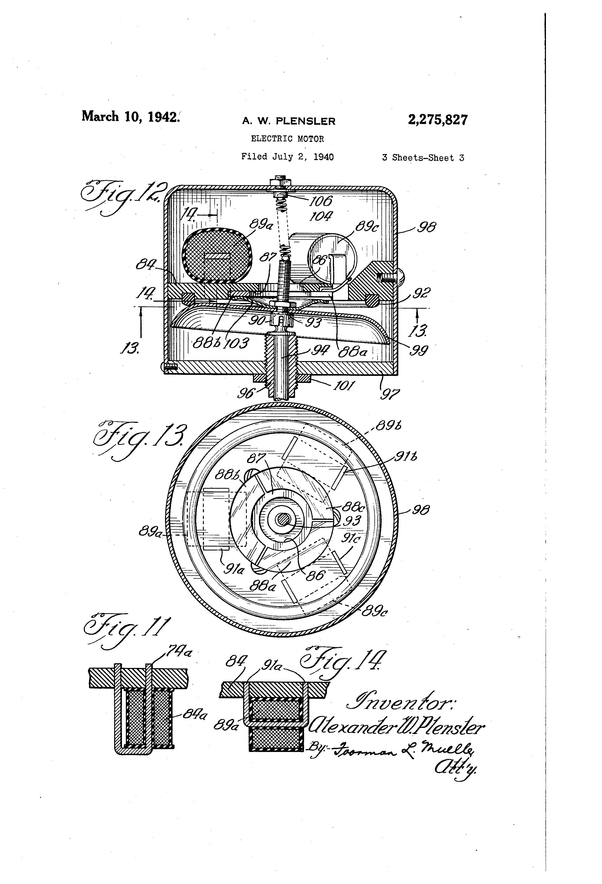 patent us2275827 - electric motor