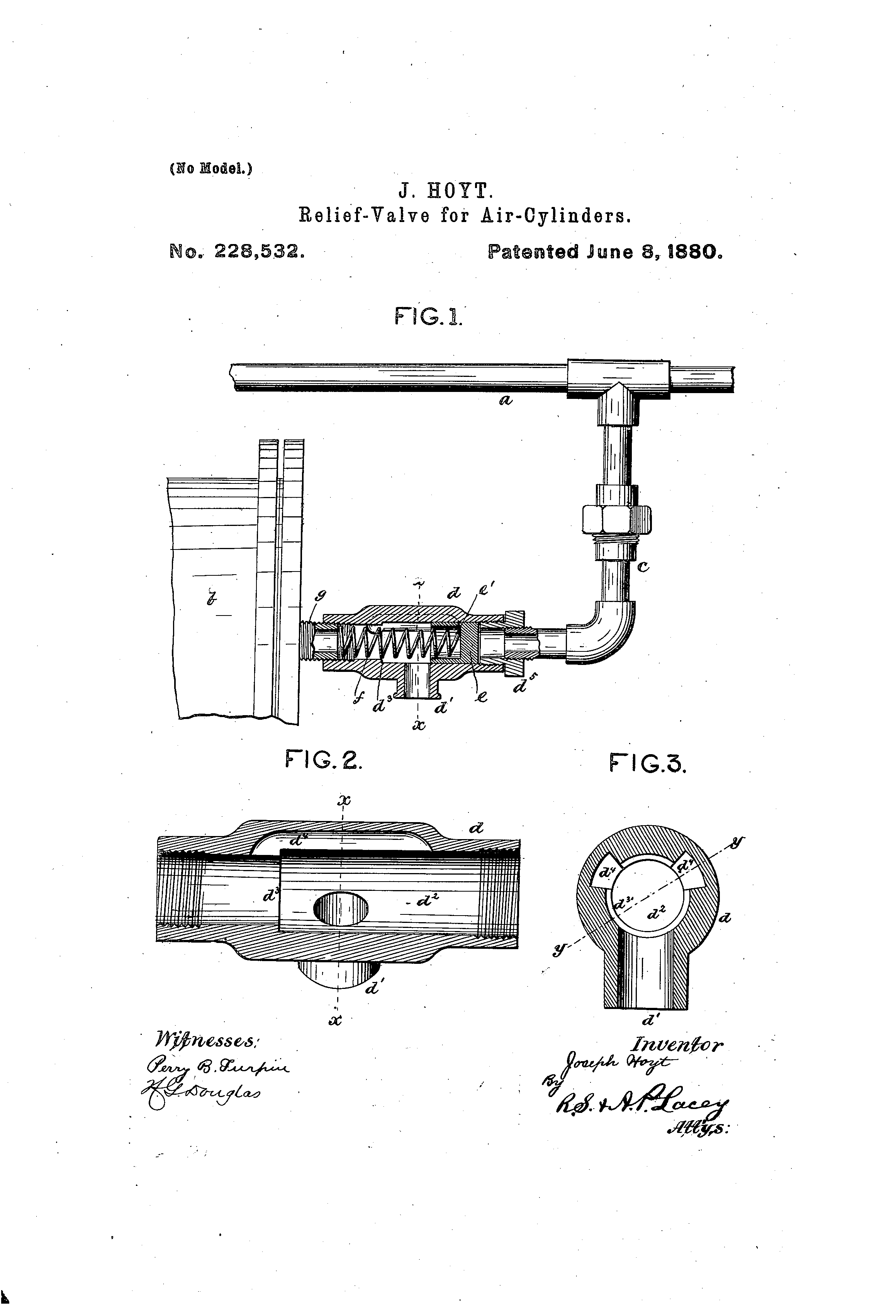 Patente Us228532 Relief Valve For Air Cylinders Google Patentes Cylinder Schematic Patent Drawing