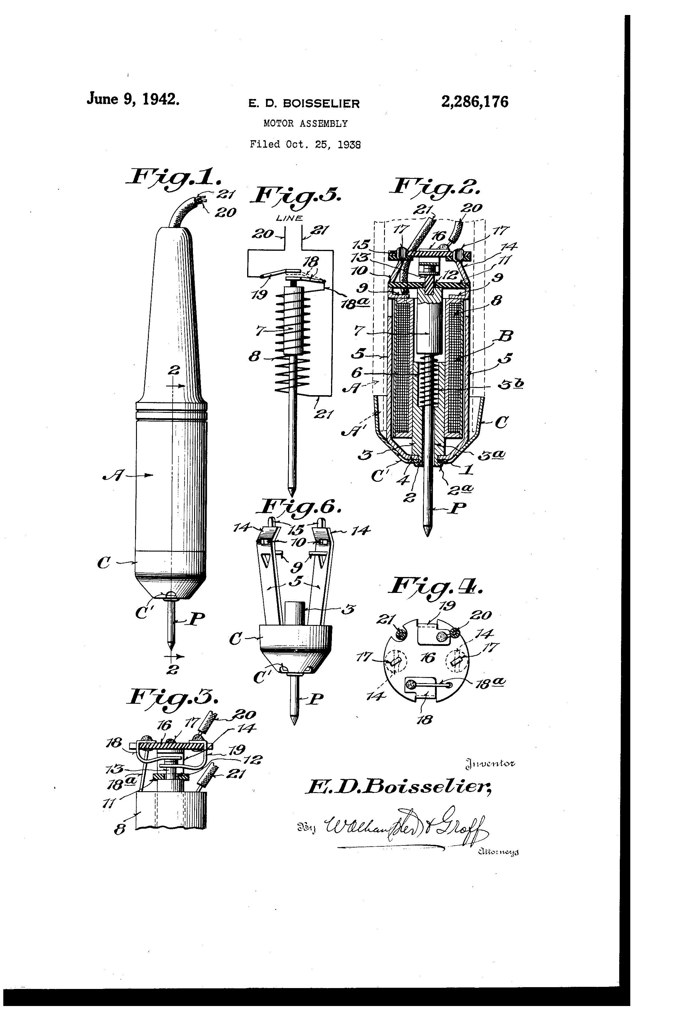 Brevetto US2286176 - Motor assembly - Google Brevetti