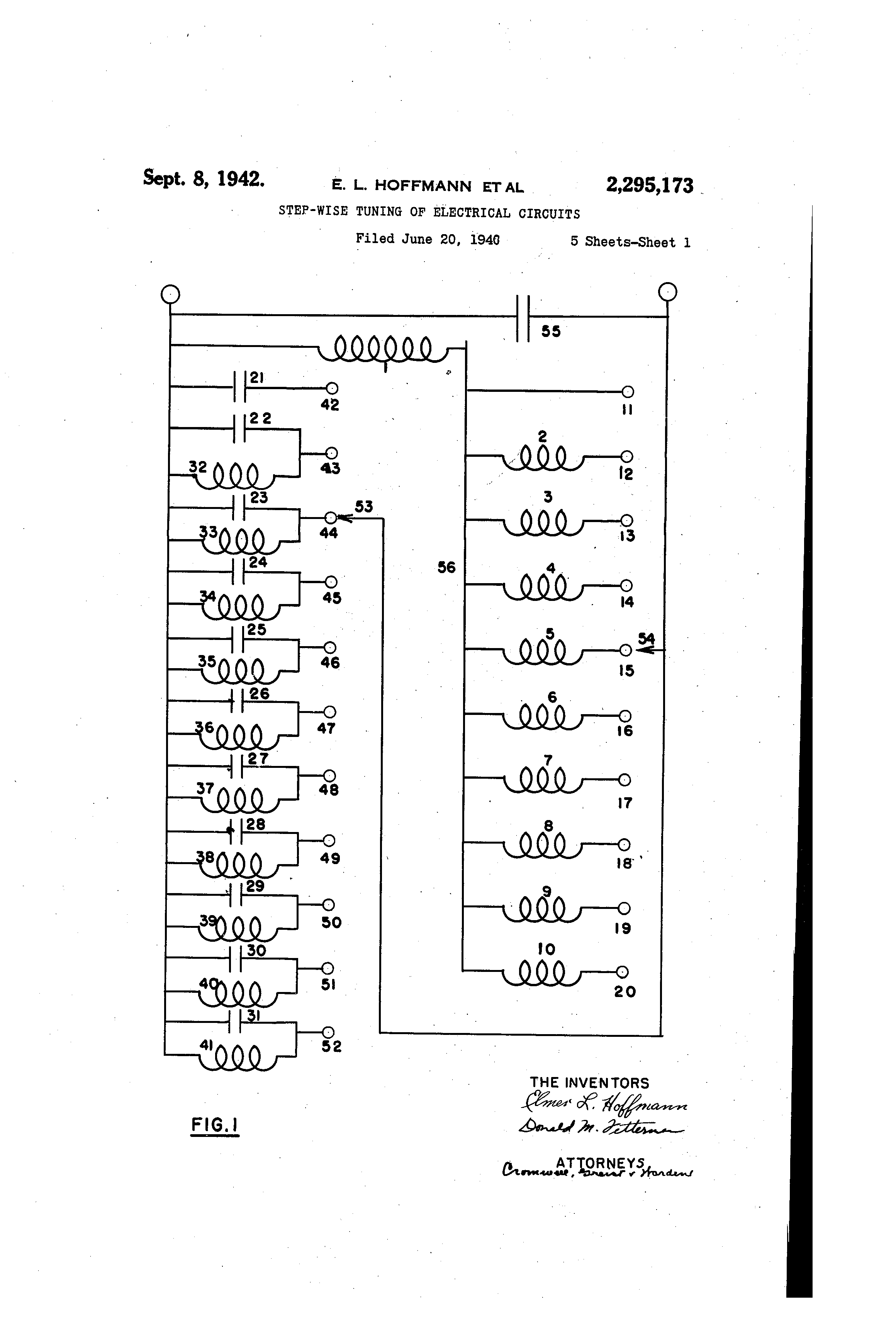 Patent US2295173 - Step-wise tuning of electrical circuits - Google ...