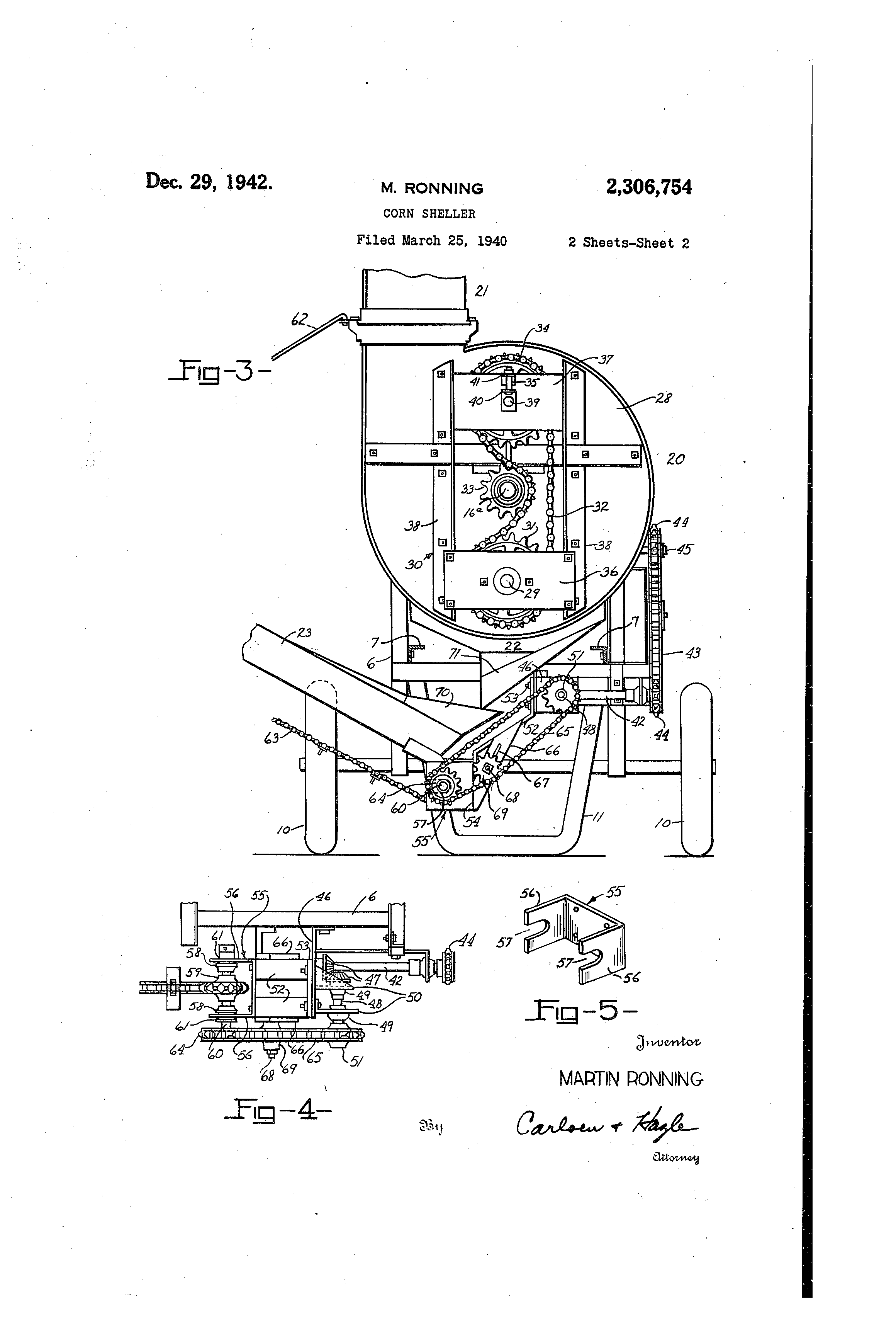 Patent Us2306754 Corn Sheller Google Patents Minneapolis Moline Tractor Wiring Diagrams Drawing