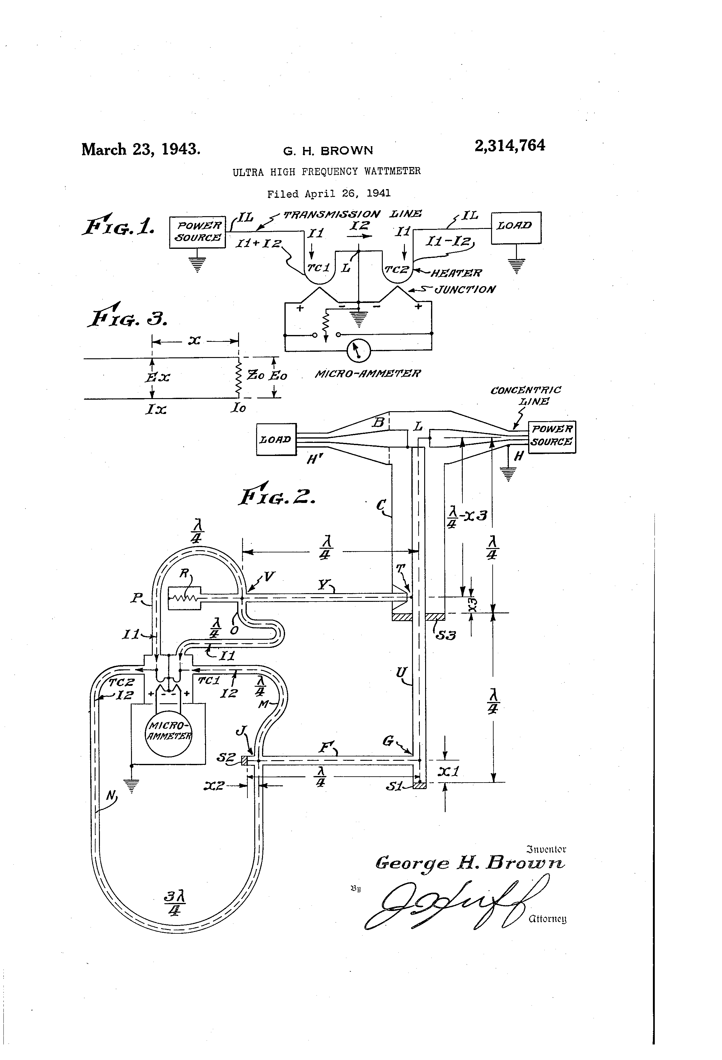 Patent Us2314764 Ultra High Frequency Wattmeter Google Patents Ac With Power Line Meter Circuit Drawing