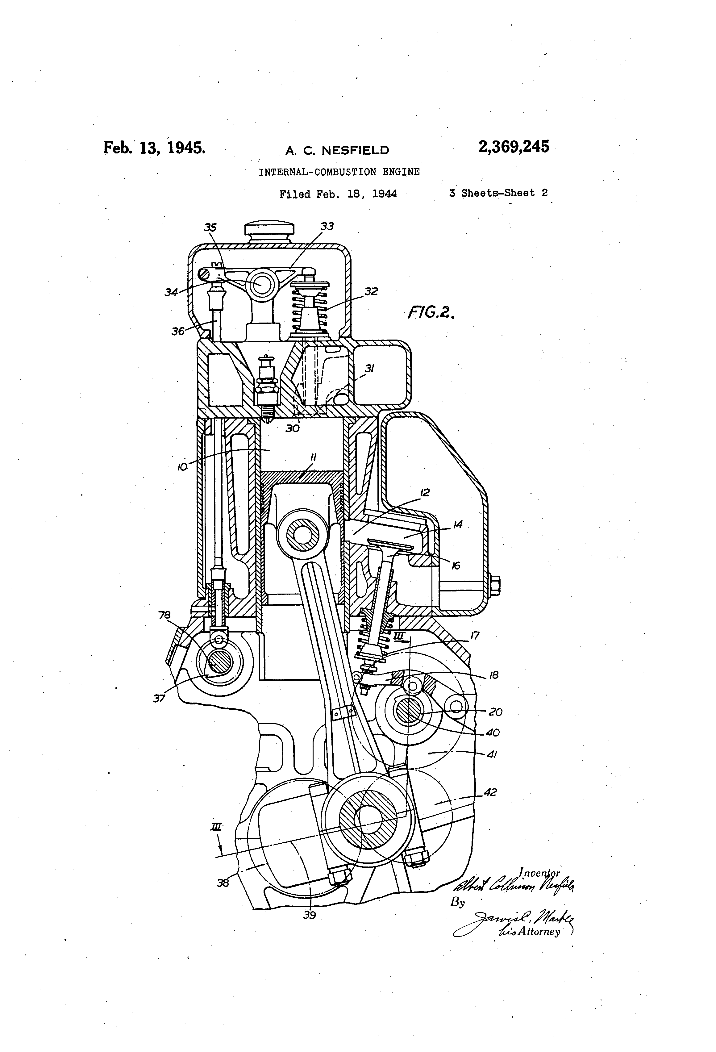 patent us2369245 - internal-combustion engine