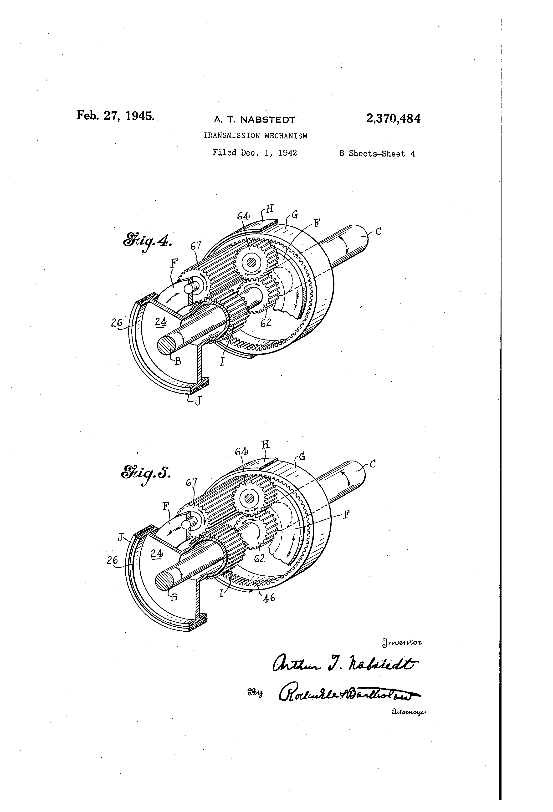 1945 J Johnson Outboard Motor Wiring Diagram Schematics Pump Patent Us2370484 Transmission Mechanism Google Patents