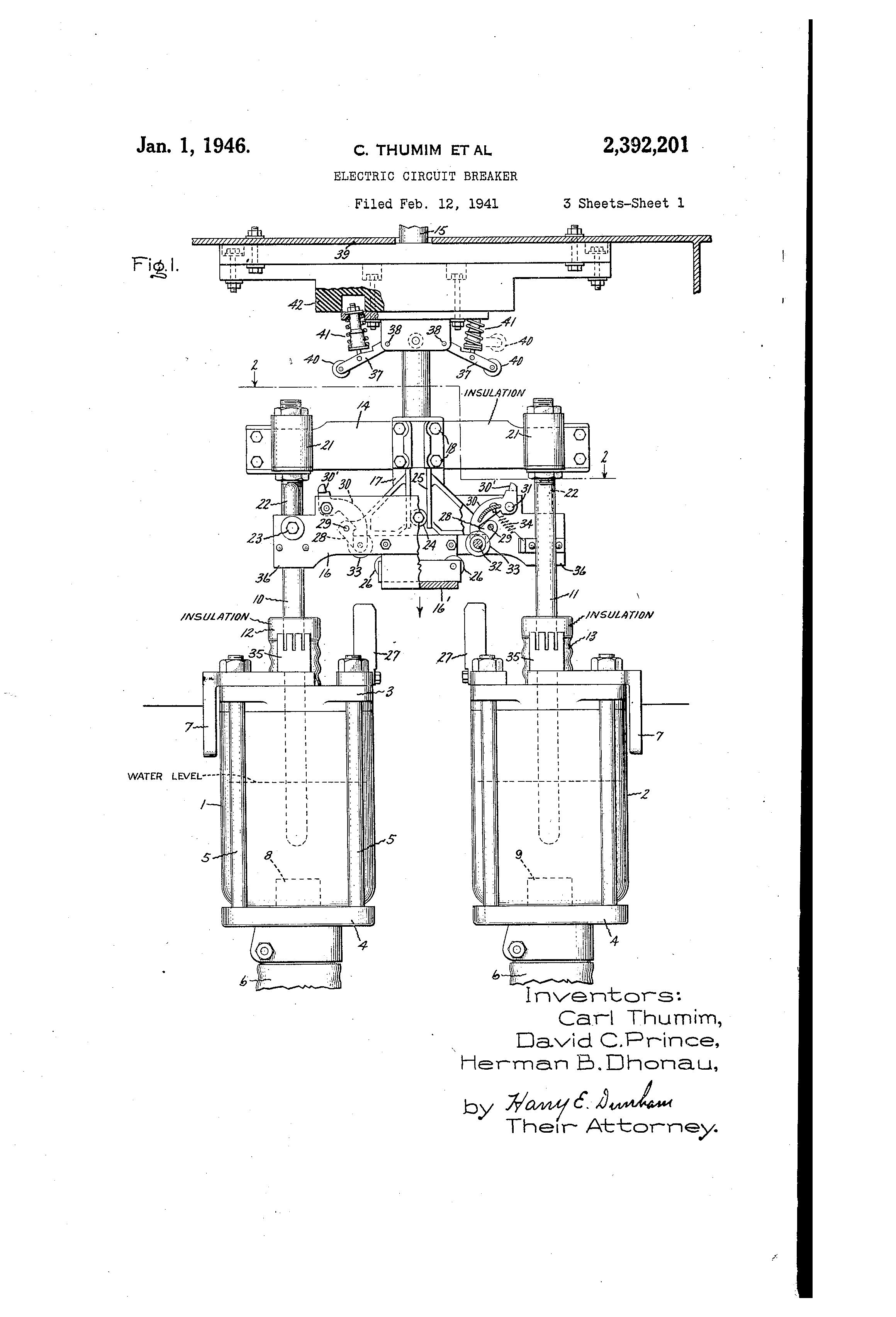 patent us2392201 - electric circuit breaker