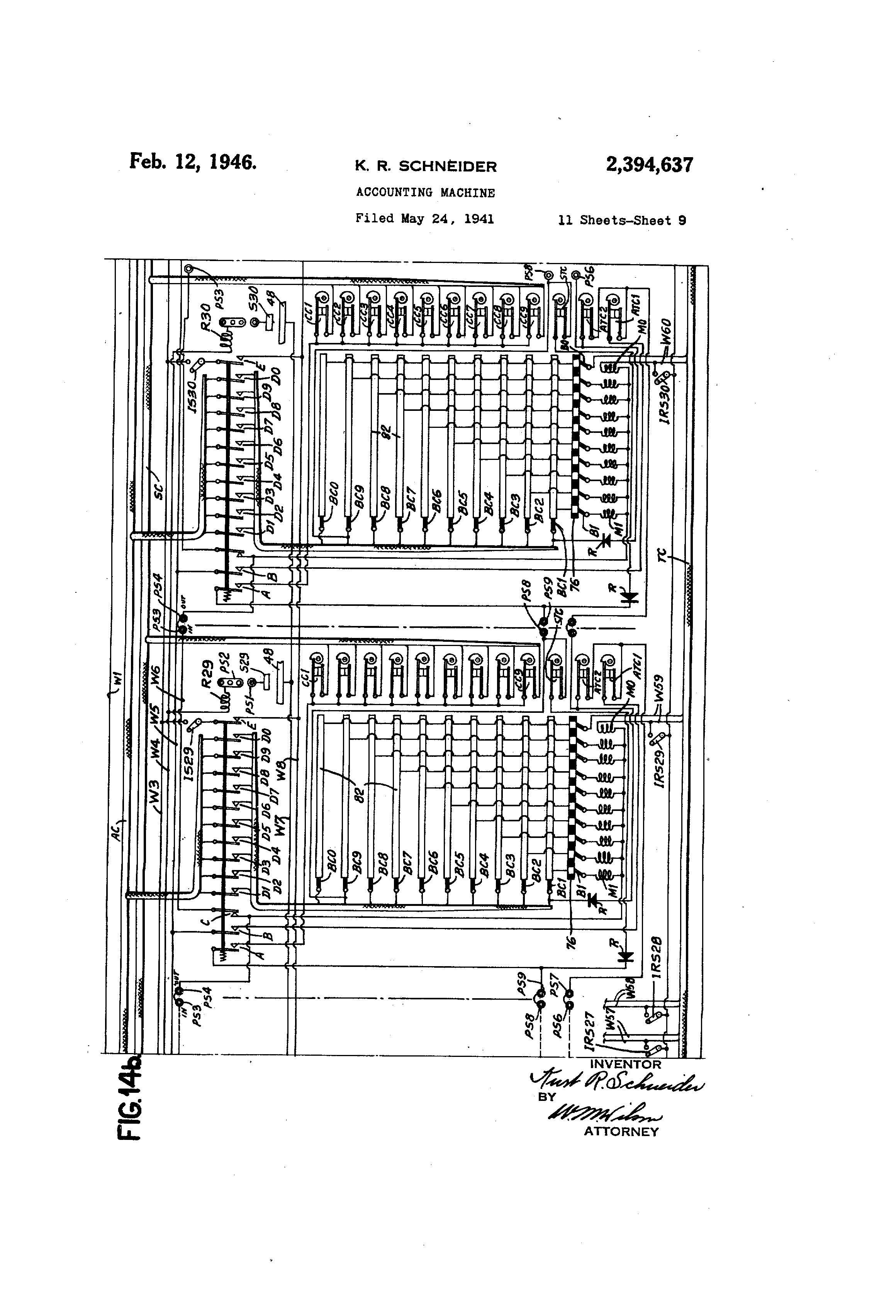 US2394637 8 patent us2394637 accounting machine google patenten 855e bcb wiring diagram at gsmx.co