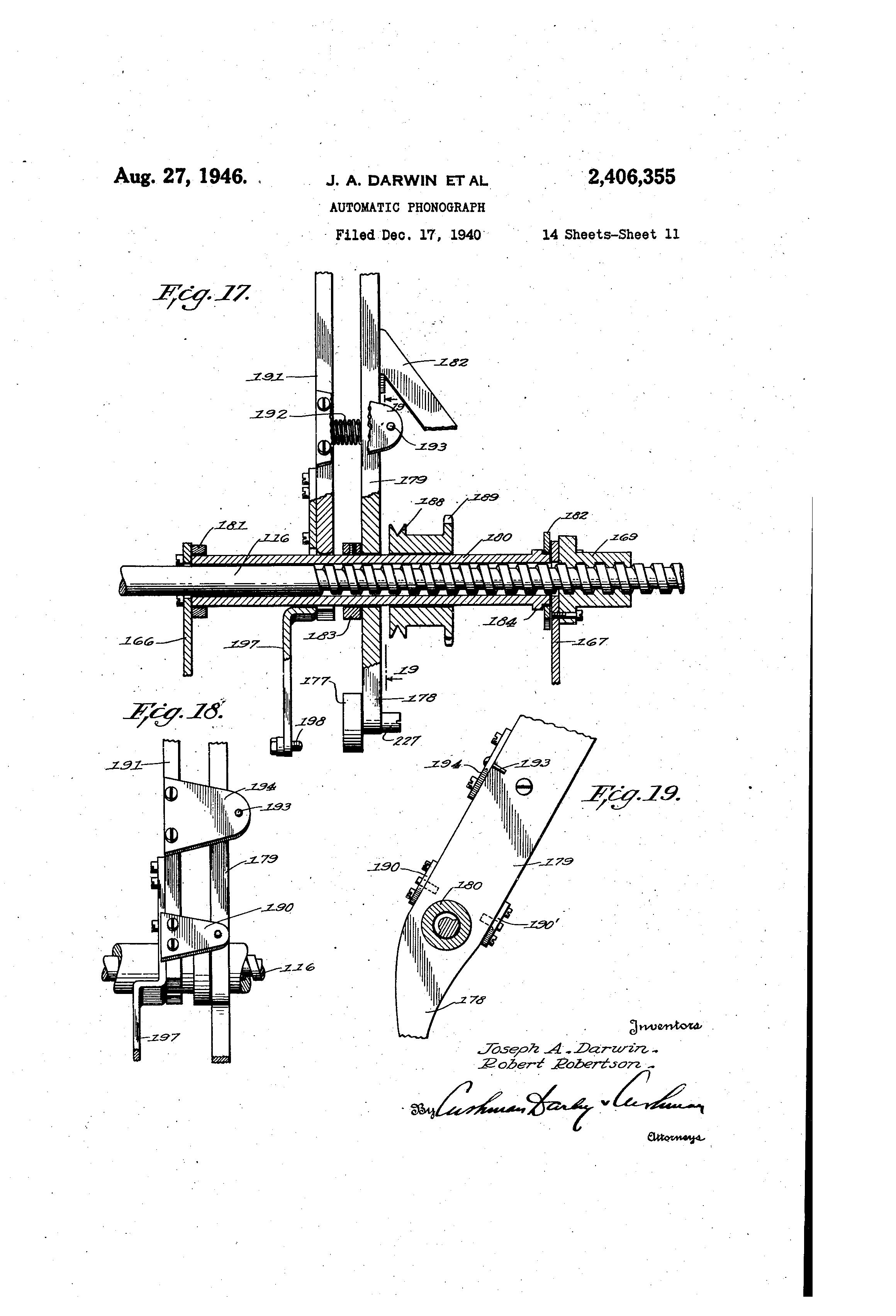 US2406355 10 patent us2406355 automatic phonograph google patents hub2b wiring diagram at soozxer.org