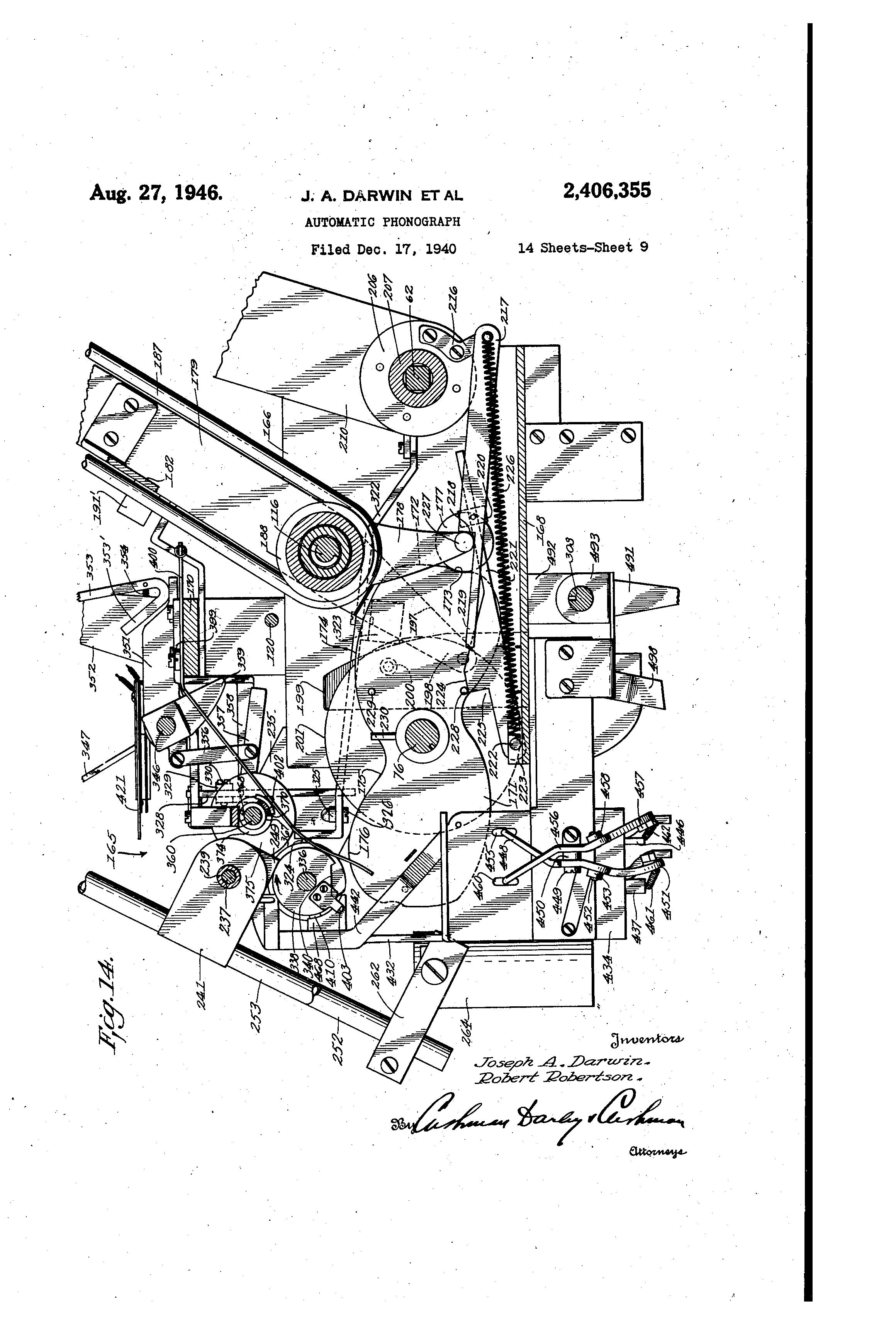 US2406355 8 patent us2406355 automatic phonograph google patents hub2b wiring diagram at soozxer.org