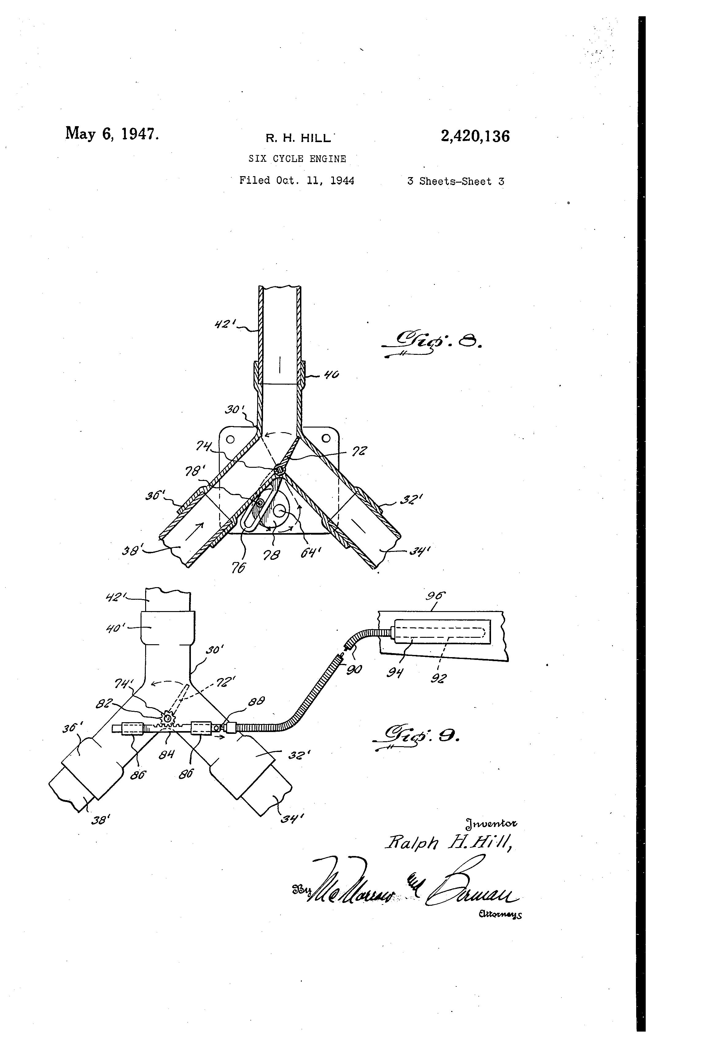 brevet us2420136 six cycle engine brevets Skid Steer Wiring Diagram patent drawing