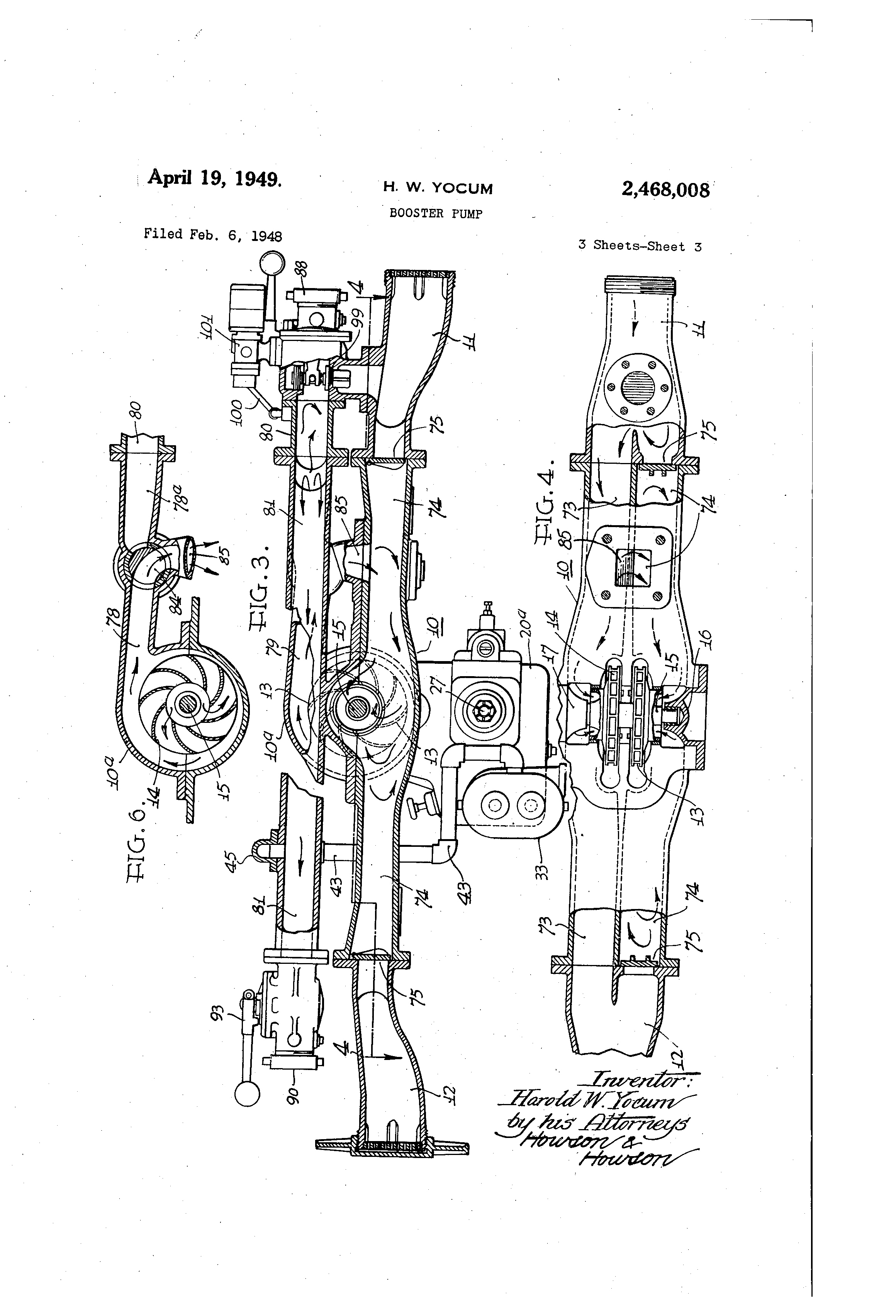 Brevet Us2468008 Booster Pump Google Brevets Wiring Diagram Patent Drawing