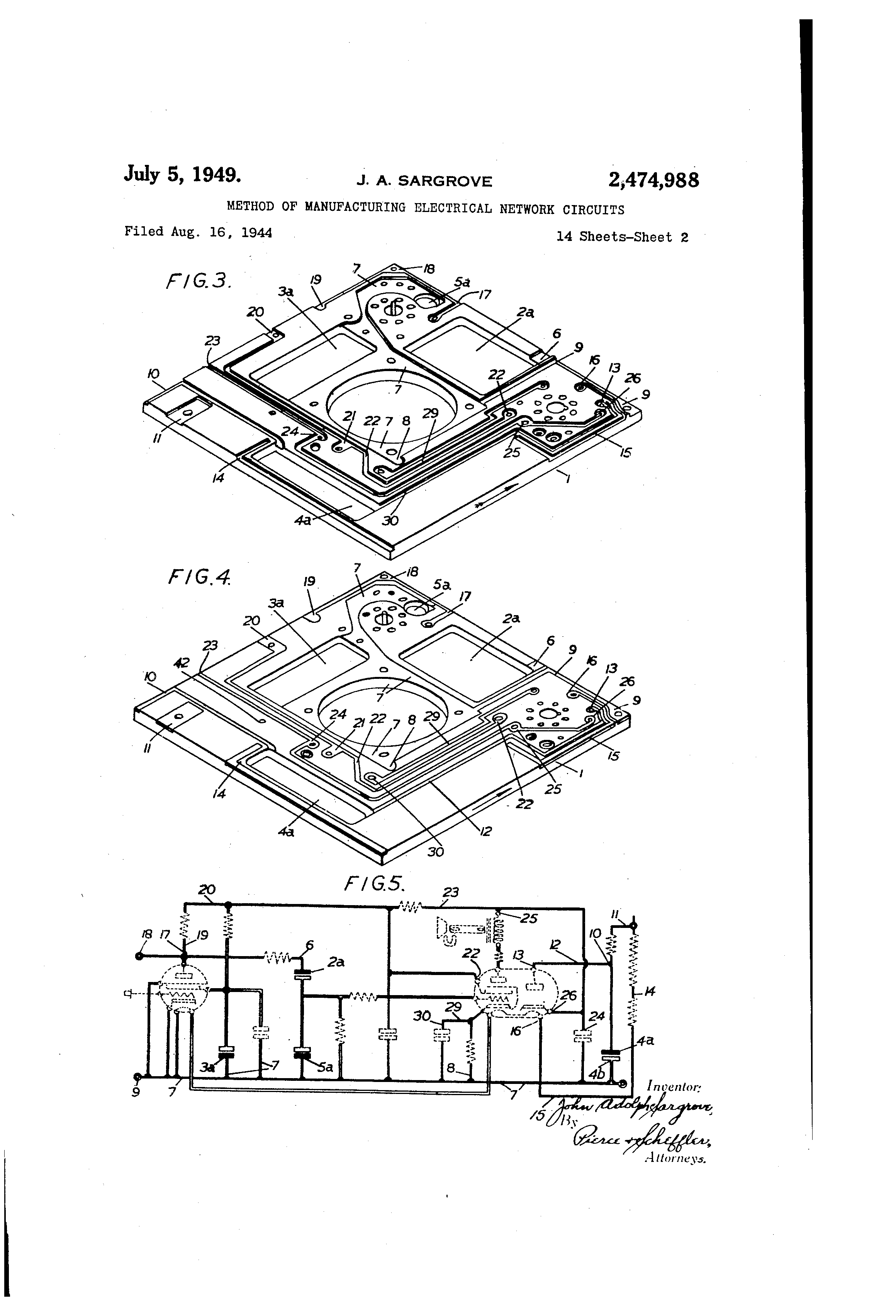 Patent Us2474988 Method Of Manufacturing Electrical Network Stator Voltage Control An Induction Motor Circuit Globe Drawing