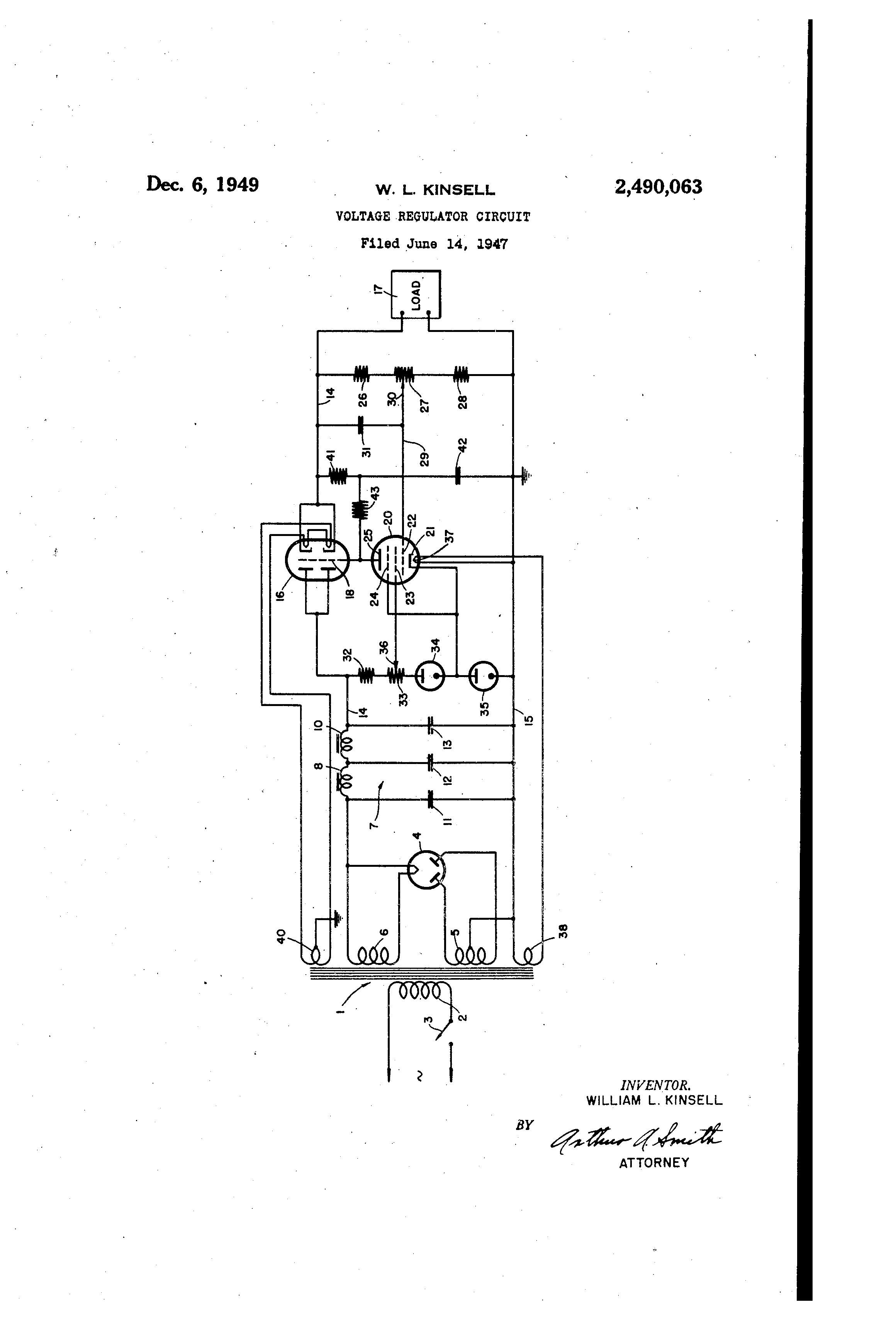 Patent Us2490063 Voltage Regulator Circuit Google Patents Circuits Drawing