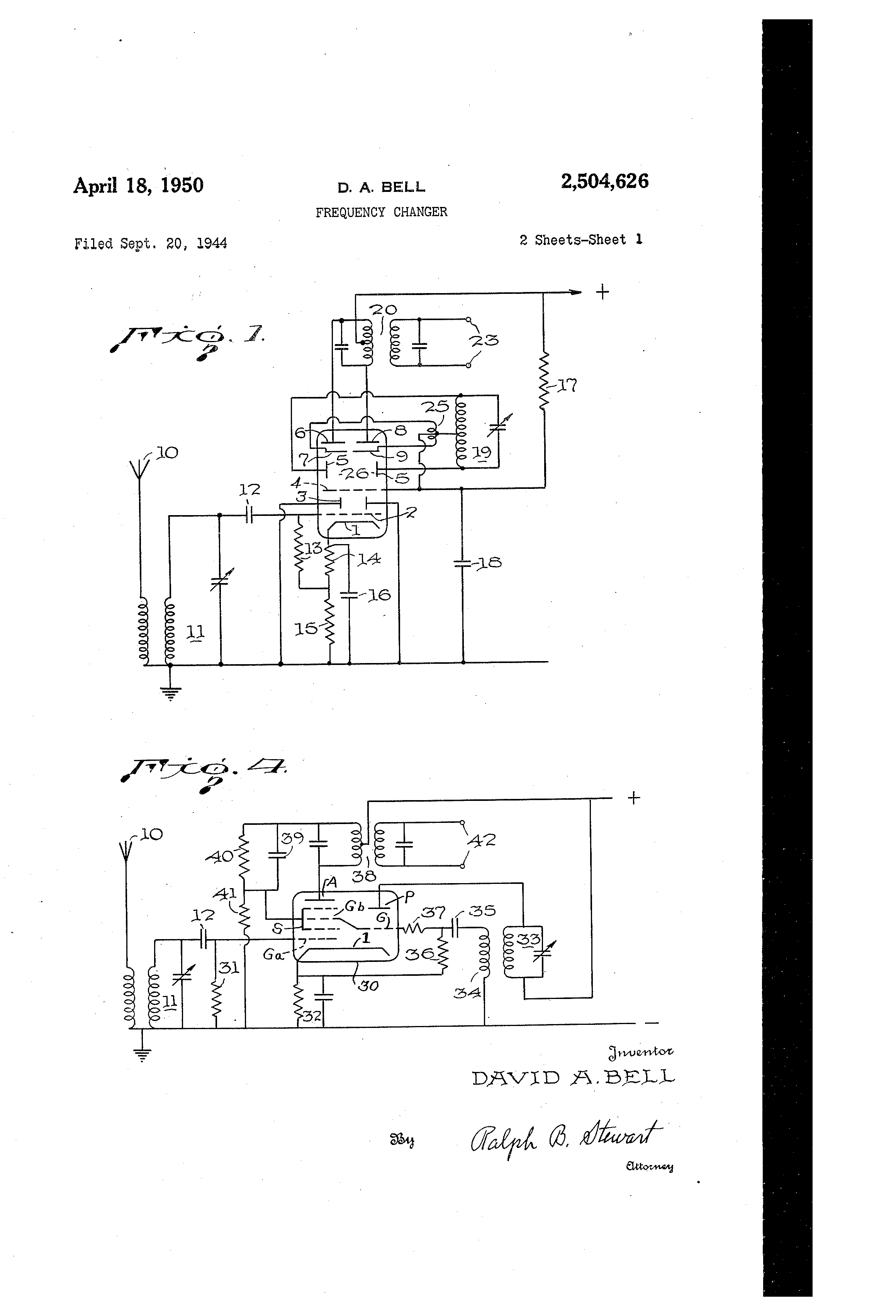 patent us2504626 frequency changer patents Crosley Radio Schematic Diagrams patent drawing