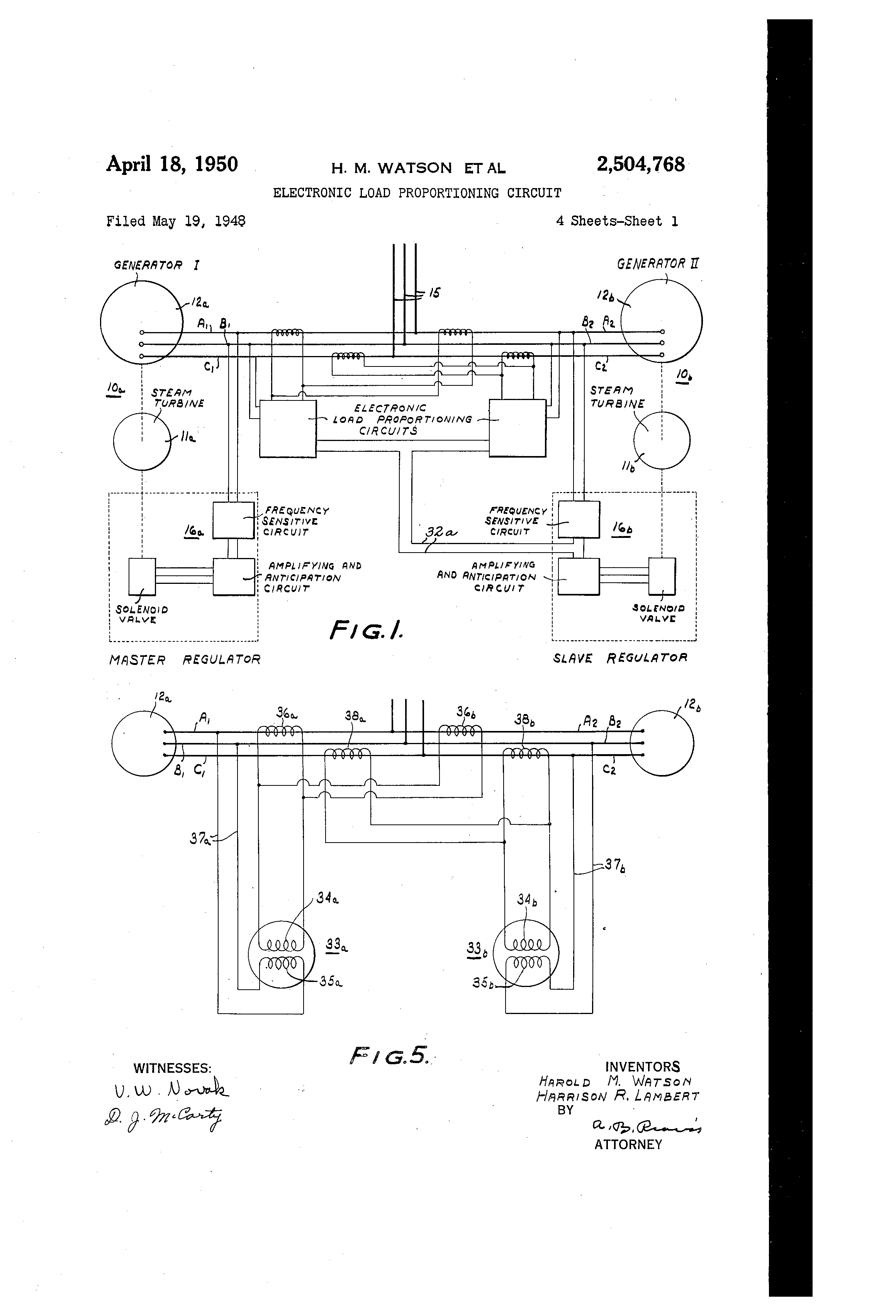 Patent Us2504768 Electronic Load Proportioning Circuit Google Diagram Drawing