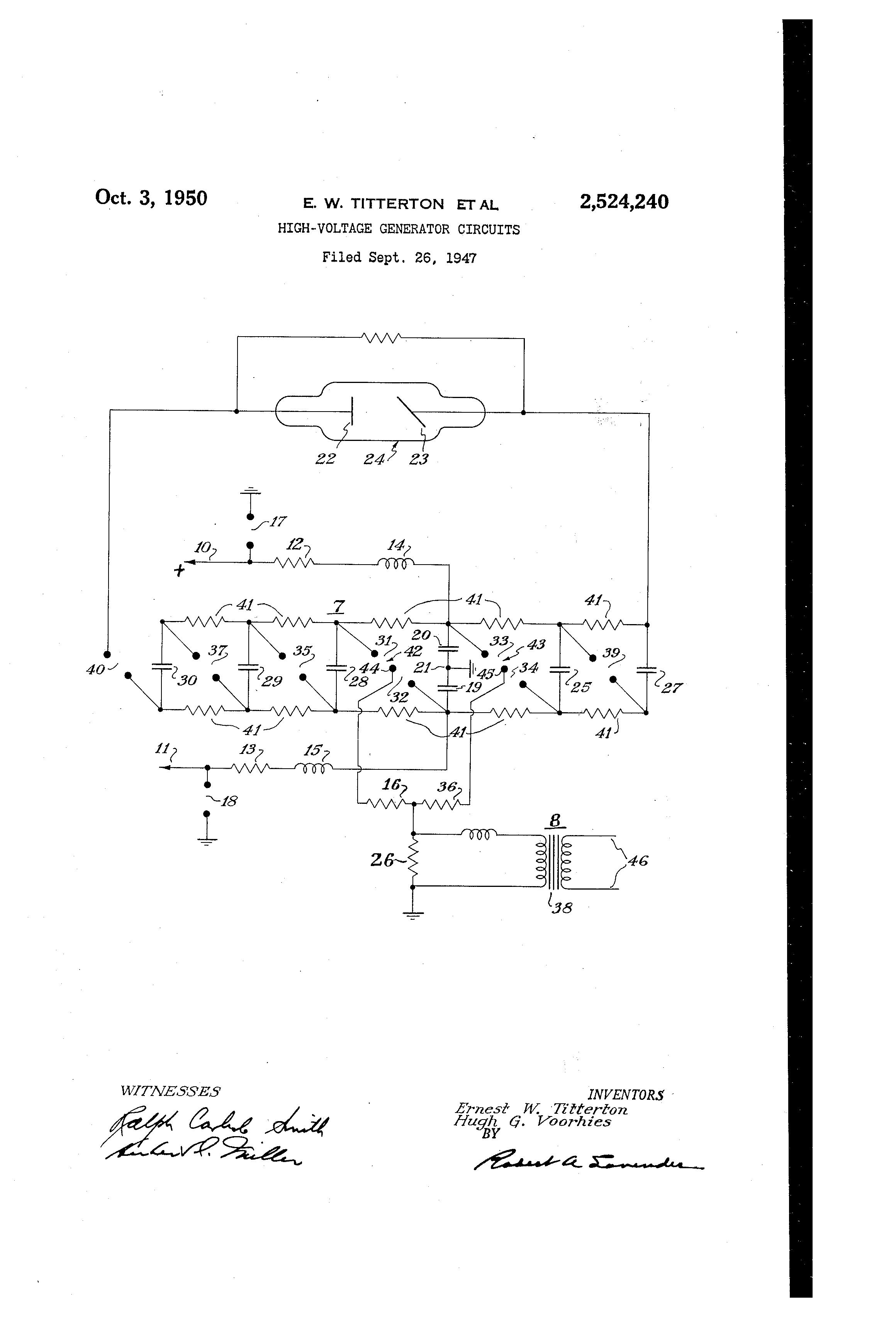 patent us2524240 high voltage generator circuits google patents rh google com