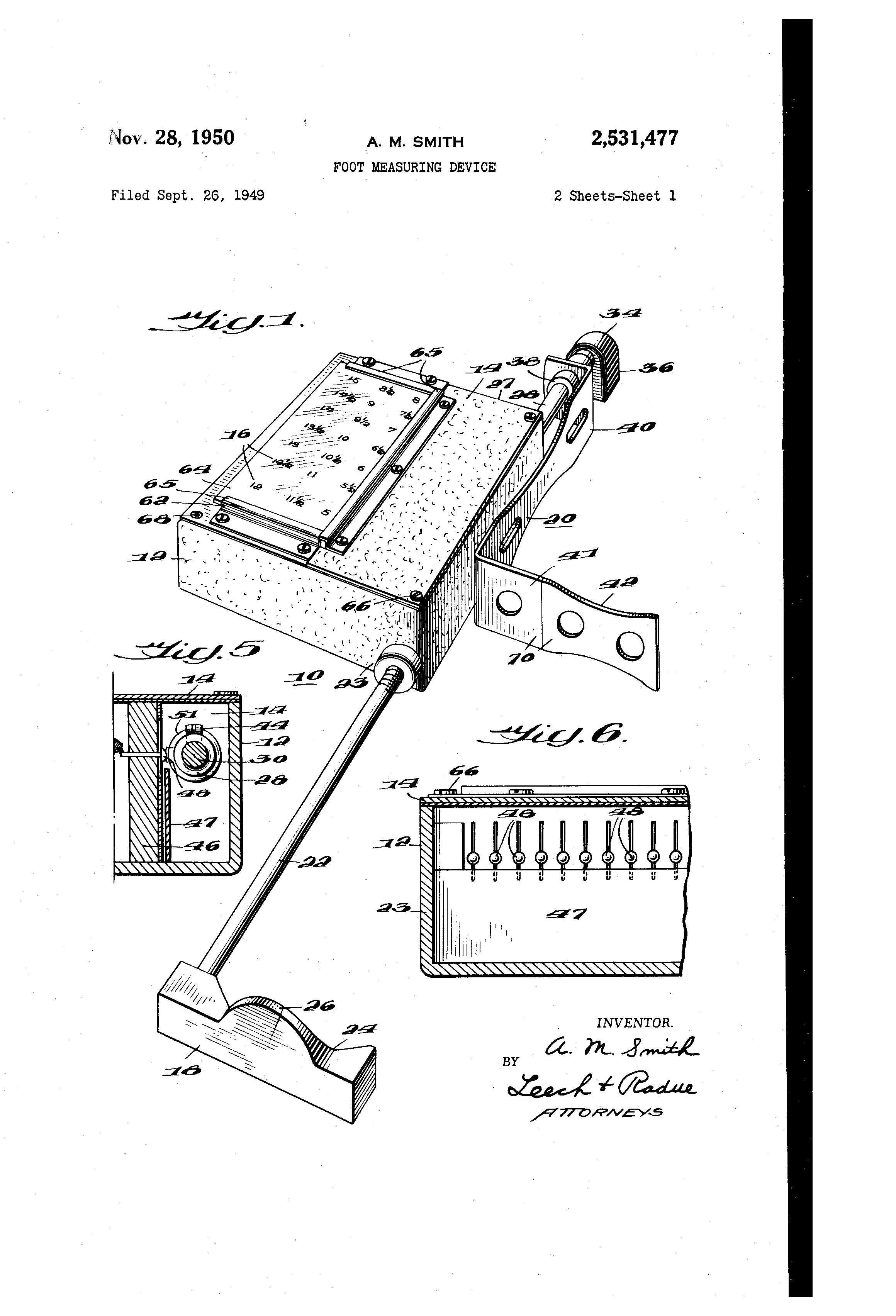 Name Of The Foot Measuring Device : Patent us foot measuring device google patents