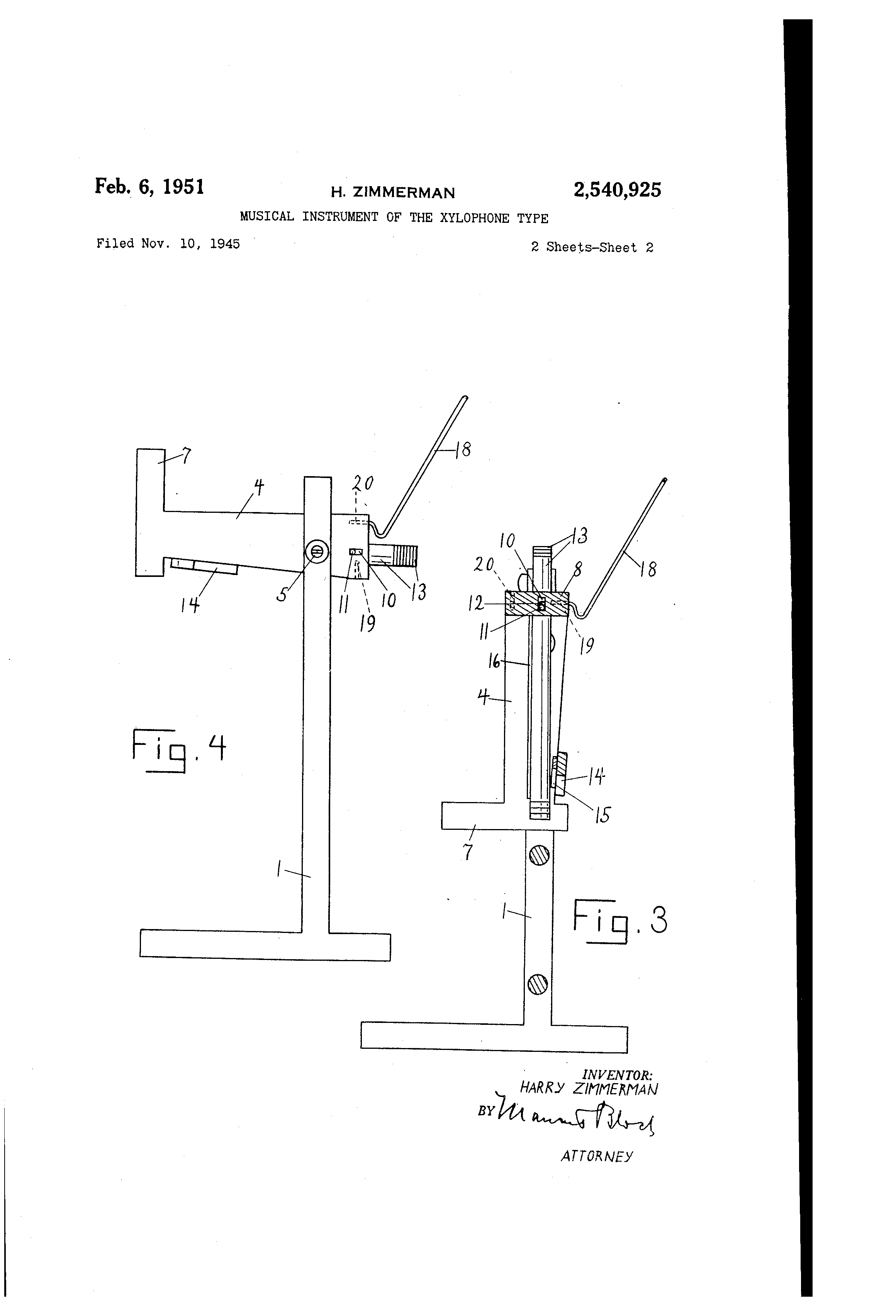 Patent Us2540925 Musical Instrument Of The Xylophone Type Google Notes Diagram Drawing